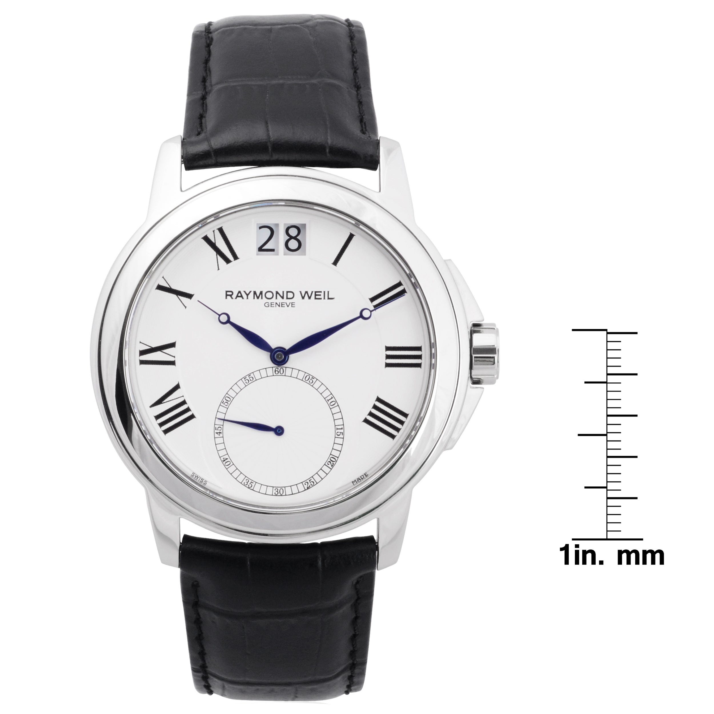 leather london steel stainless womens of driver roman en black gb numerals round watch links hires watches