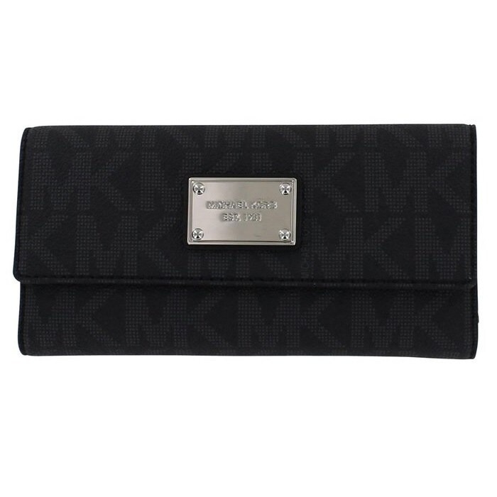 638074c7daec Shop Michael Kors Jet Set Signature Checkbook Wallet - Free Shipping Today  - Overstock - 9331828