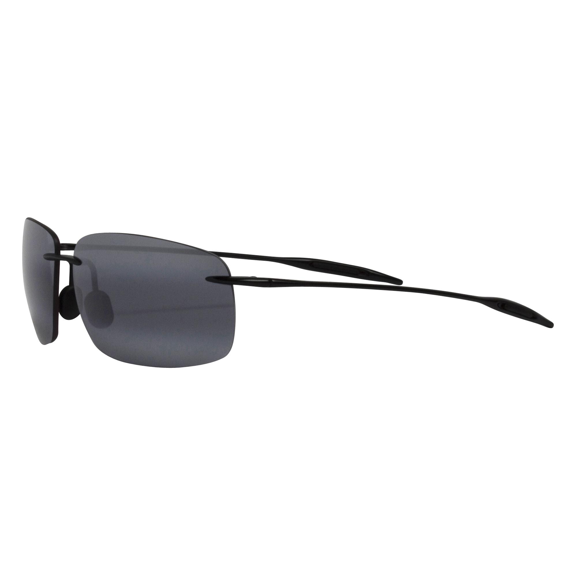 dc024c3325 Maui Jim Unisex  Breakwall 422-02  Black Polarized Square Sunglasses