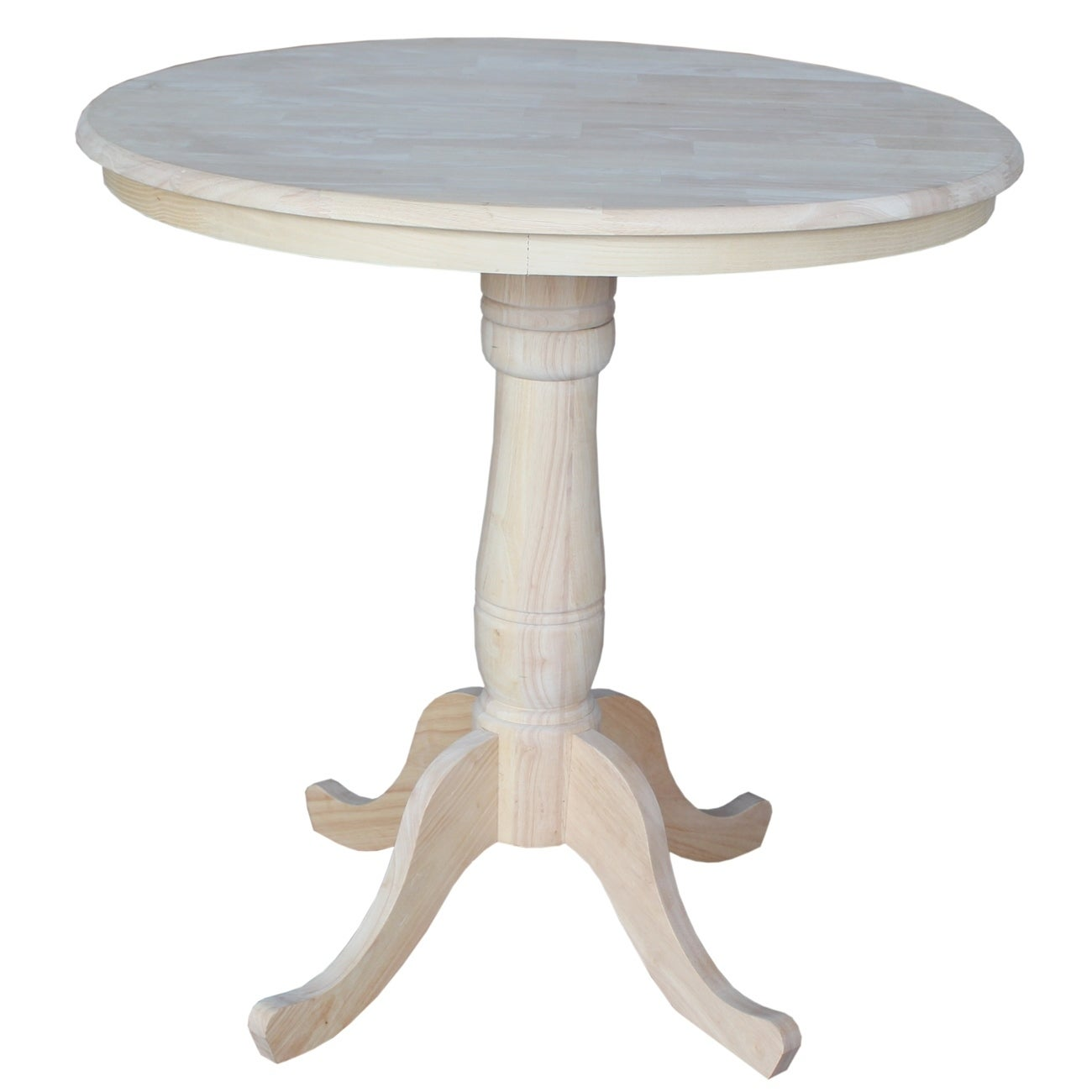 International Concepts Unfinished 36 Inch Round Counter Height Pedestal Table Free Shipping Today 9332751