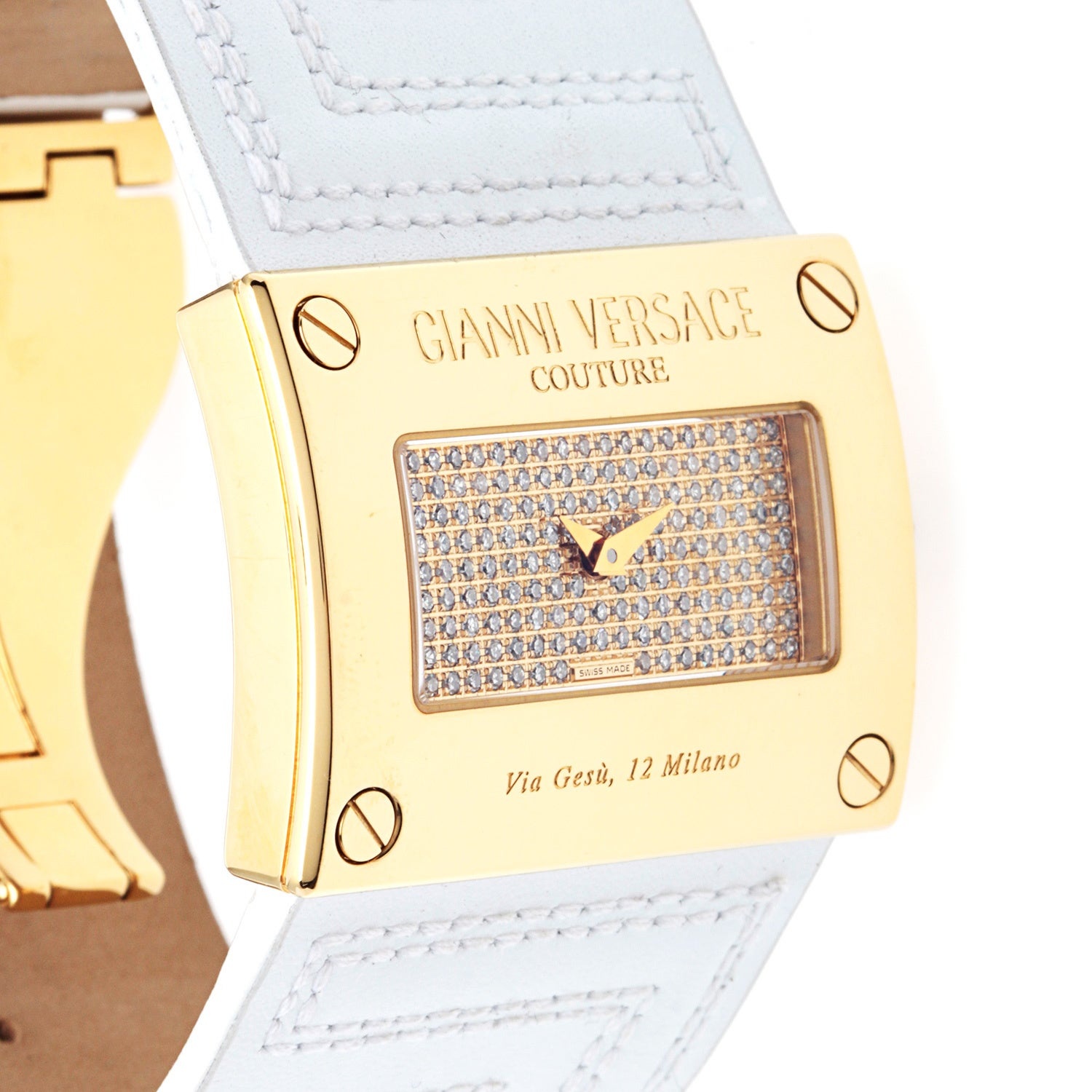 Versace Women's 71QSD91FS1 White Leather Watch