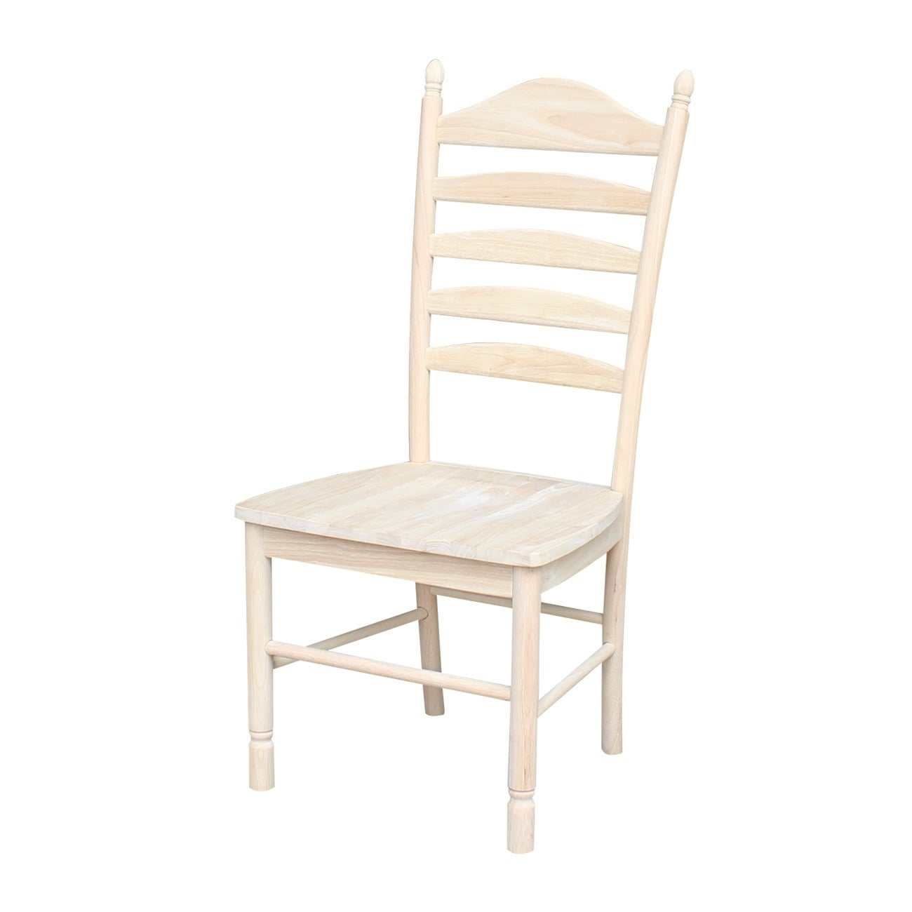 International Concepts Unfinished Solid Parawood Bedford Ladderback Chair  (Set Of 2)