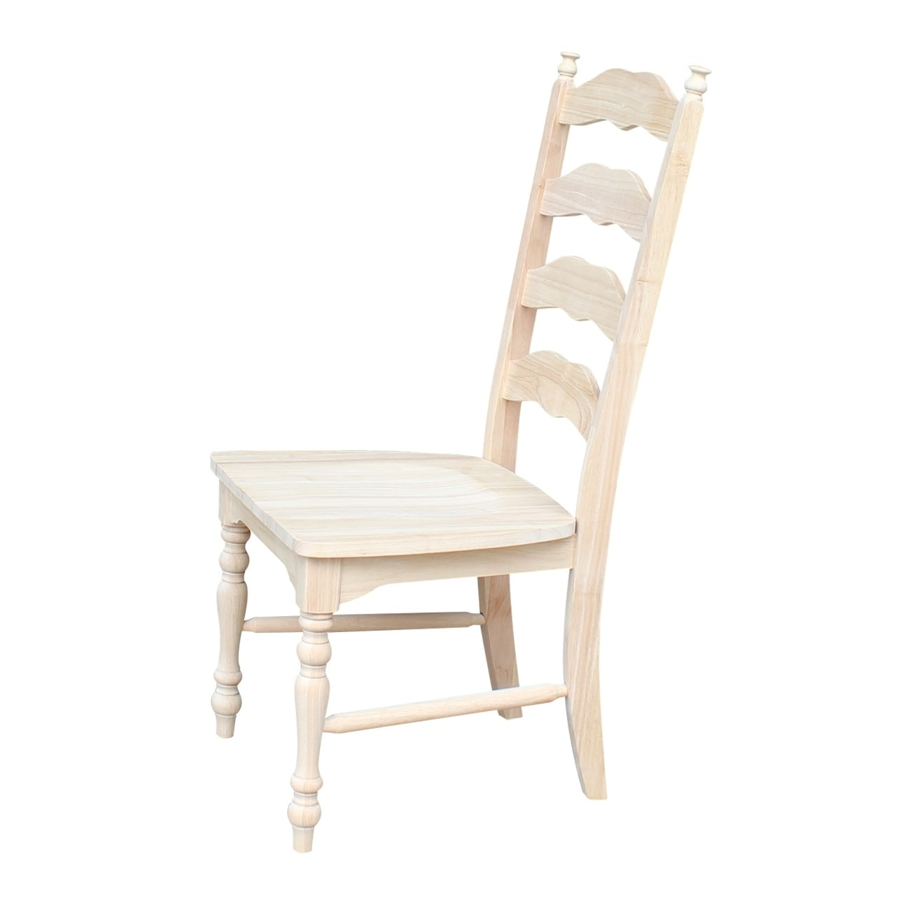 Shop International Concepts Unfinished Solid Parawood Maine Ladderback Chair  (Set Of 2)   Free Shipping Today   Overstock.com   9346225