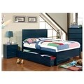 Furniture of America Colorpop 3-Piece Youth Bed, Trundle and Nightstand Set
