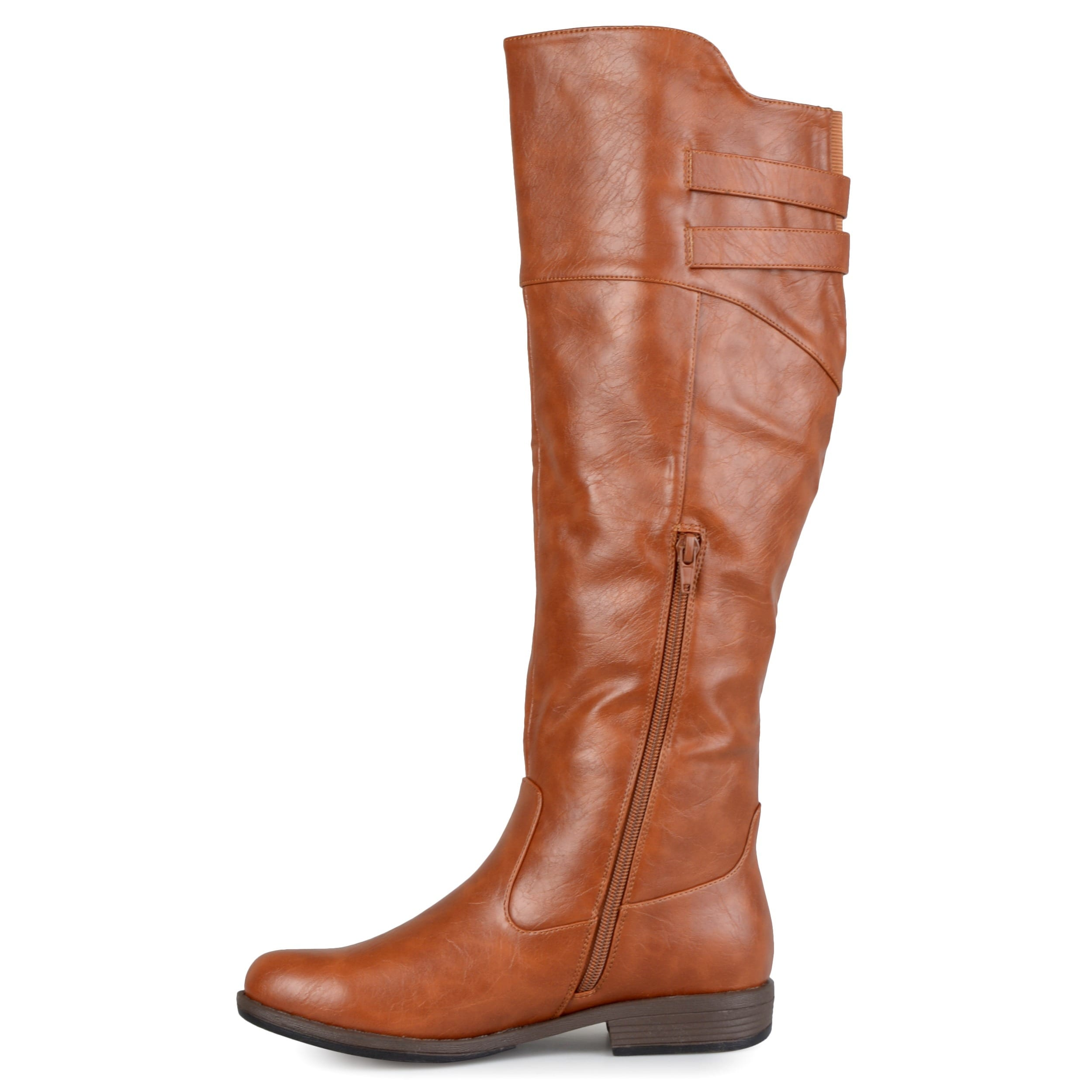 92f5156b0e0 Shop Journee Collection Women s  Tori  Regular and Wide-calf Double-Buckle  Knee-high Riding Boot - On Sale - Free Shipping Today - Overstock - 9346478