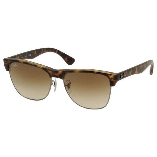 c6361de92e4 Shop Ray-Ban Men s  RB4175 Clubmaster  Tortoise Brown Sunglasses ...