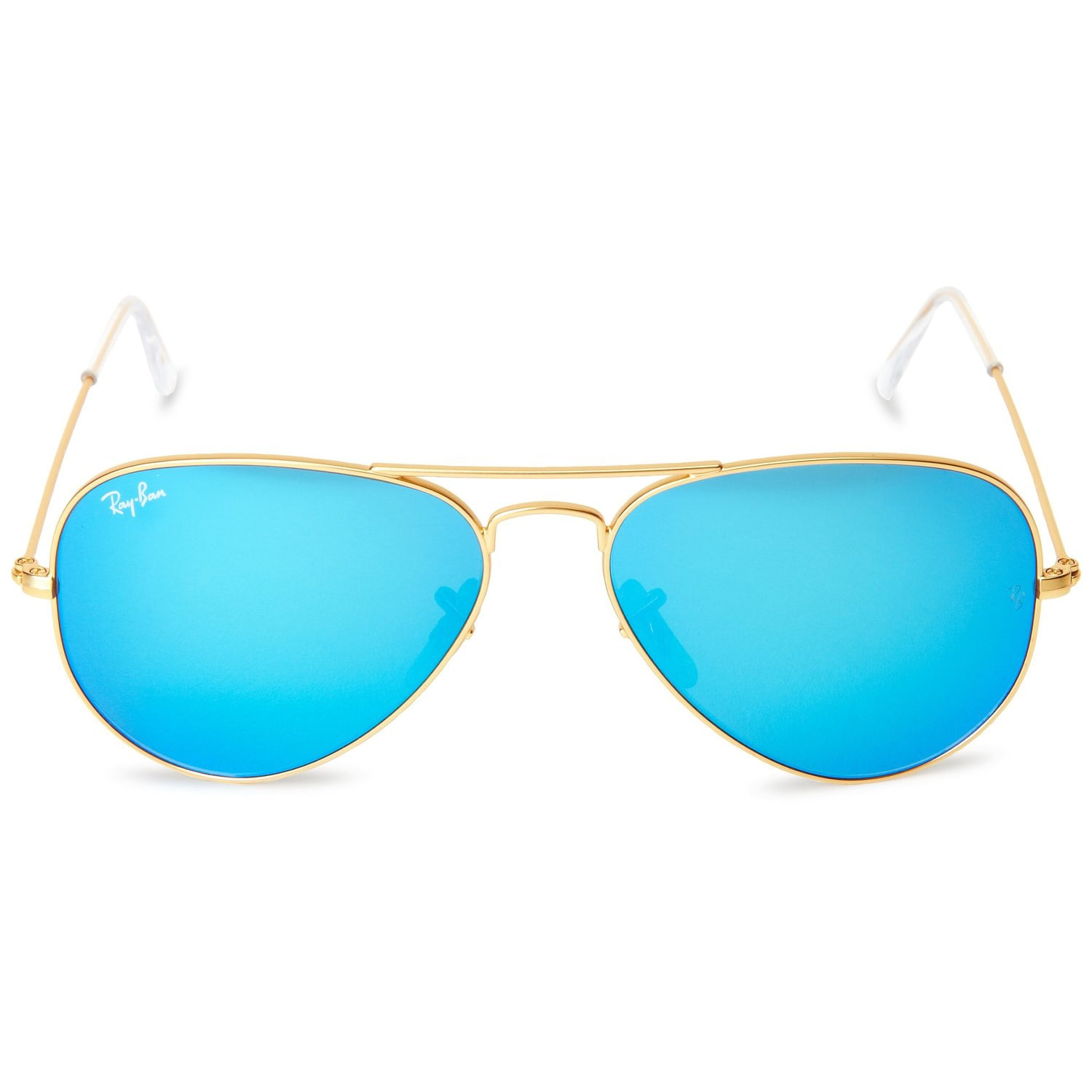 22a1f953ef6d ... free shipping shop ray ban aviator rb 3205 unisex gold frame blue  mirror lens sunglasses free