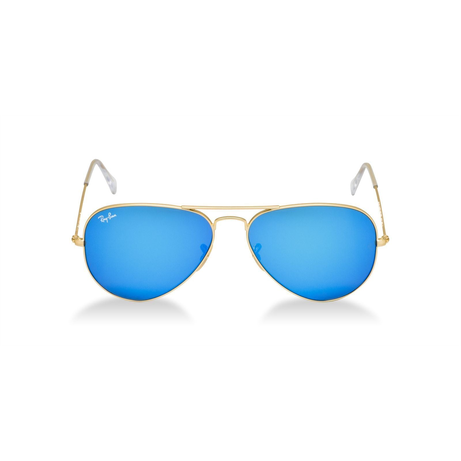 e1eca1fe70 Shop Ray- Ban Aviator RB 3205 Unisex Gold Frame Blue Mirror Lens Sunglasses  - Free Shipping Today - Overstock - 9348681