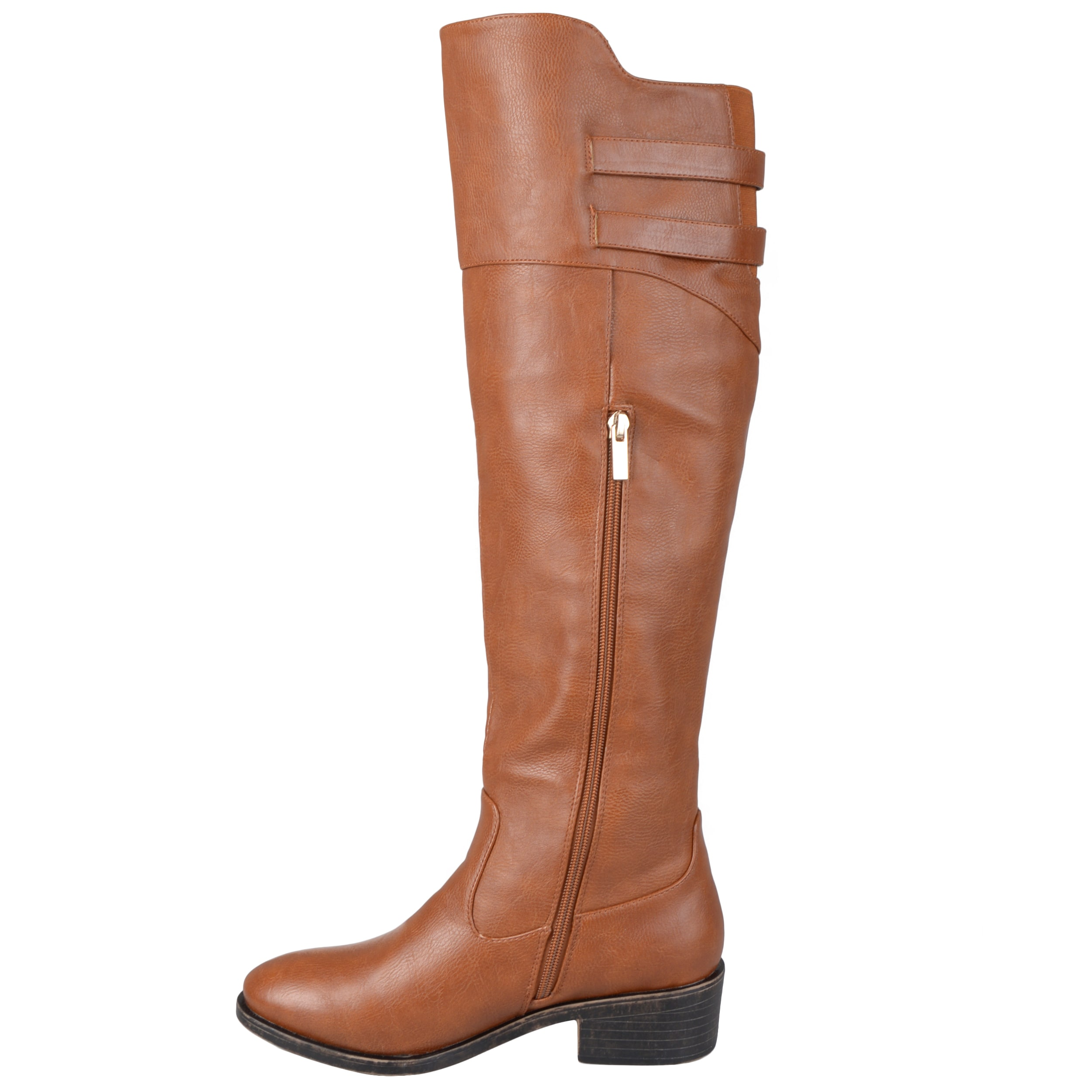 Journee Collection Women's 'Chloe' Regular and Wide-calf Button Detail Knee-high  Riding Boot - Free Shipping On Orders Over $45 - Overstock.com - 16542029