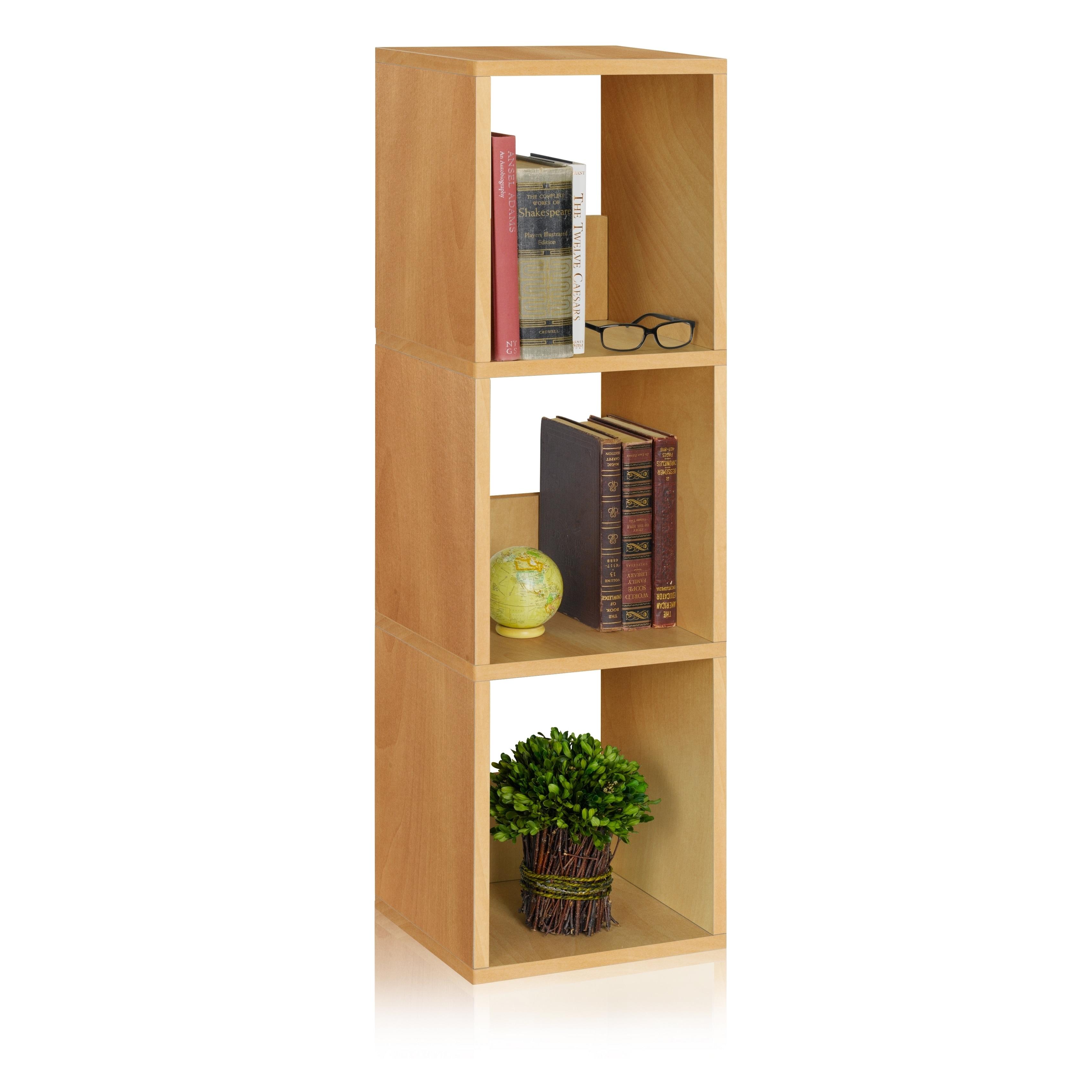 Camden Eco 3-Shelf Narrow Bookcase Storage Shelf by Way Basics LIFETIME  GUARANTEE - Free Shipping Today - Overstock.com - 16545362