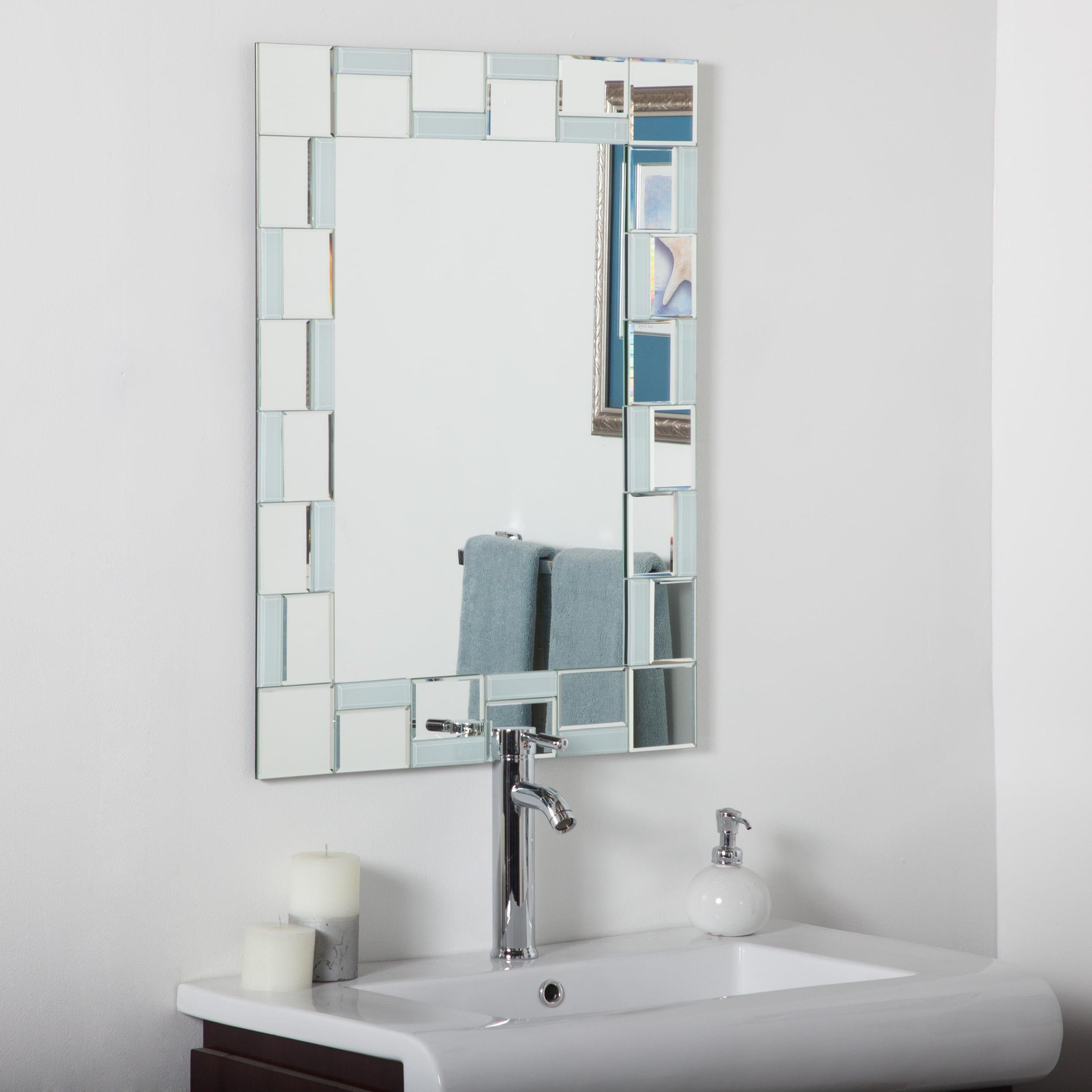 Shop Quebec Modern Bathroom Mirror - Free Shipping Today - Overstock ...