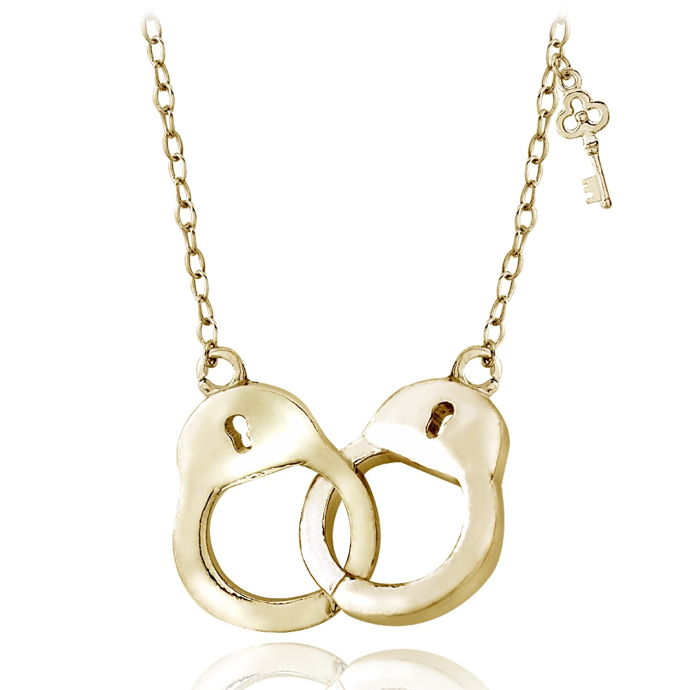 Mondevio sterling silver or gold over silver handcuff necklace mondevio sterling silver or gold over silver handcuff necklace free shipping on orders over 45 overstock 16547251 aloadofball Image collections
