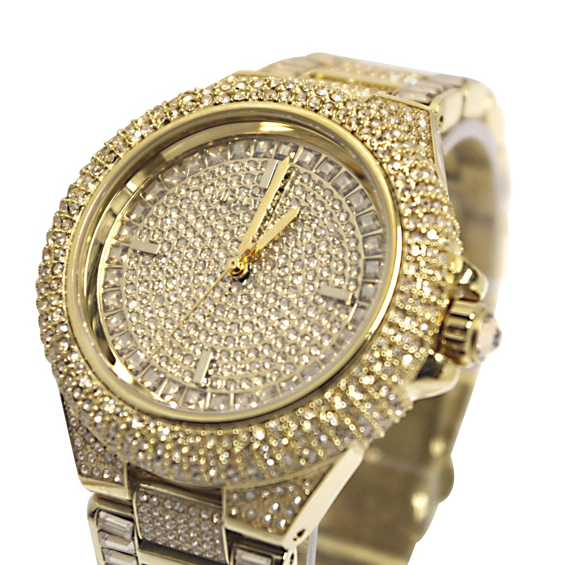 88b6707de277 Shop Michael Kors Women s MK5720  Camille  Crystal Glam Goldtone Style  Watch - Free Shipping Today - Overstock - 9358308