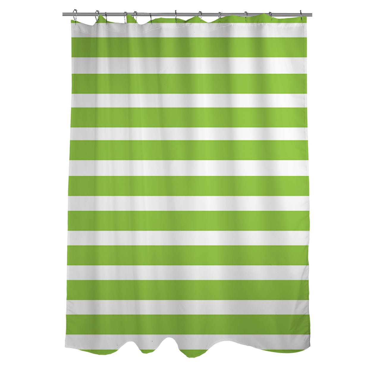 Shop Bright Stripes Kiwi Shower Curtain - On Sale - Free Shipping ...