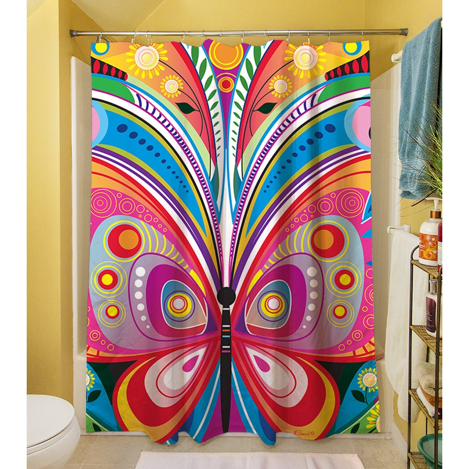 Good Pattern Butterfly Shower Curtain   Free Shipping Today   Overstock.com    16553204