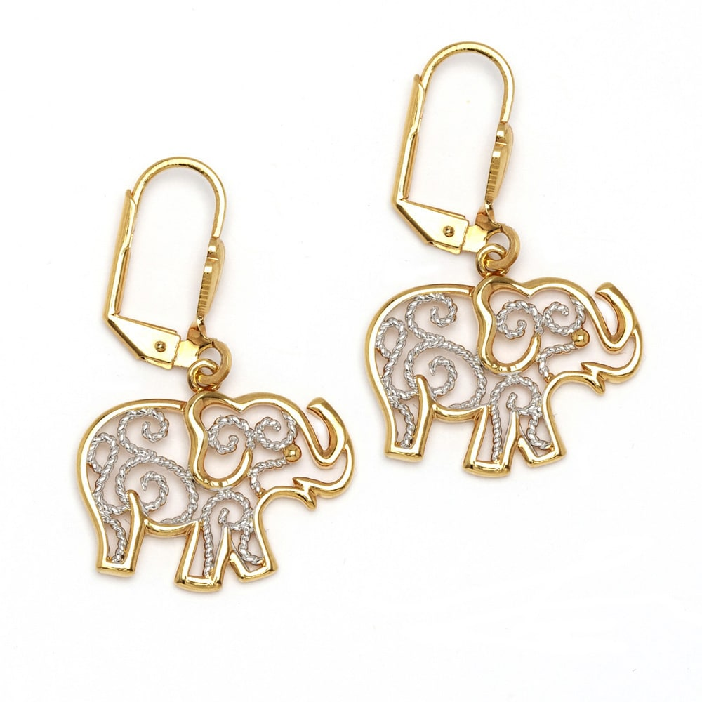 silver elephant item idol sterling stud tous earrings