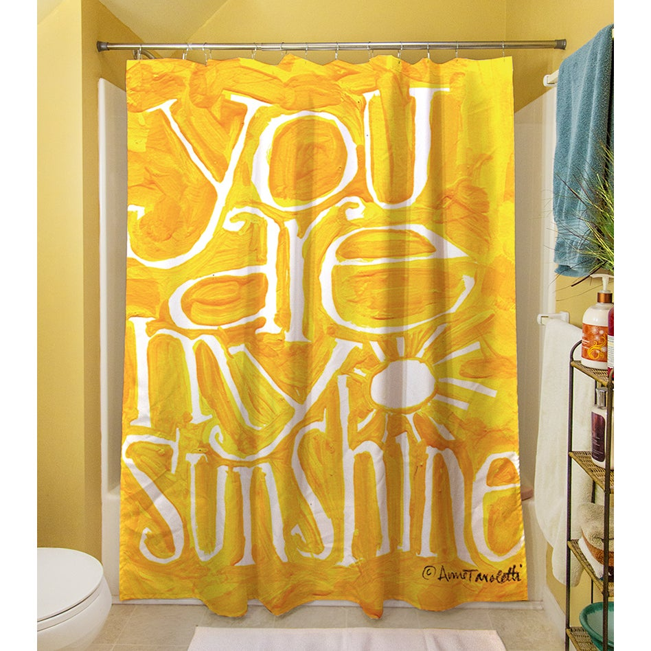 Elegant You Are My Sunshine Shower Curtain   Free Shipping Today   Overstock.com    16553649