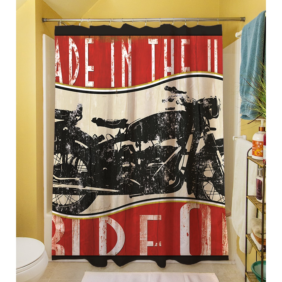 Shop Vintage Motorcycle Shower Curtain