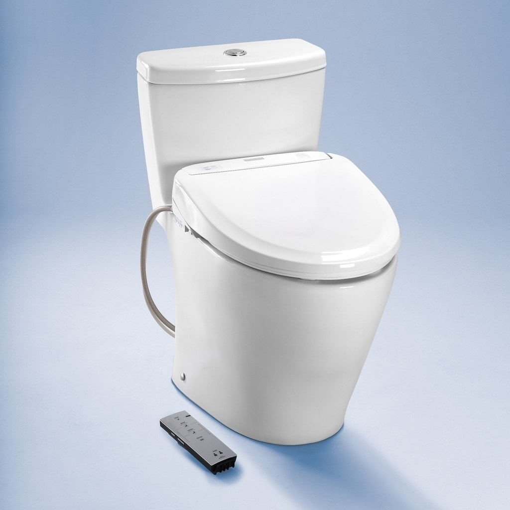 Shop Toto Washlet S300e Round Bidet Toilet Seat with ewater+ SW573 ...