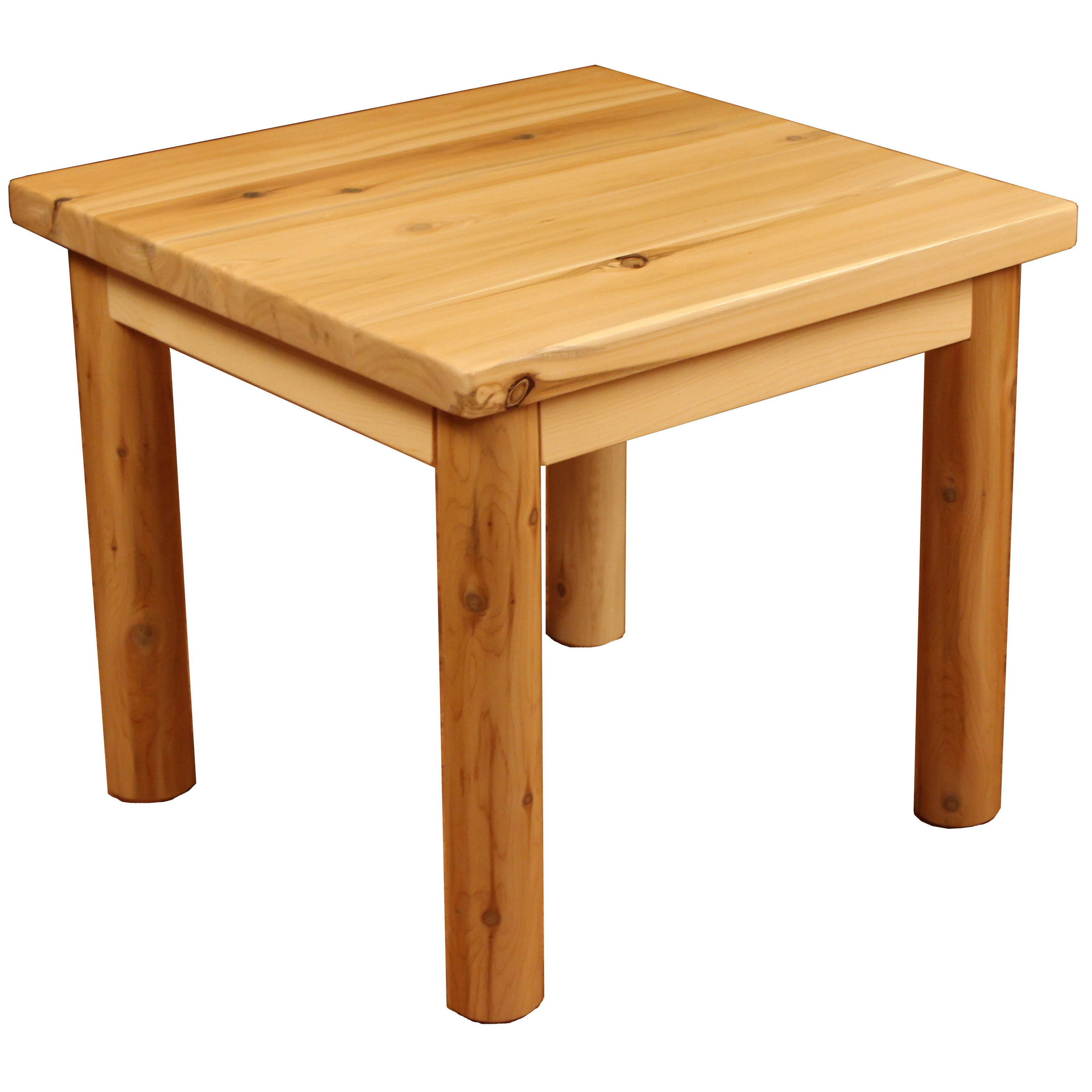 Yosemite Rustic White Cedar Log Lodge Style Solid Wood Table Free Shipping Today 9362116