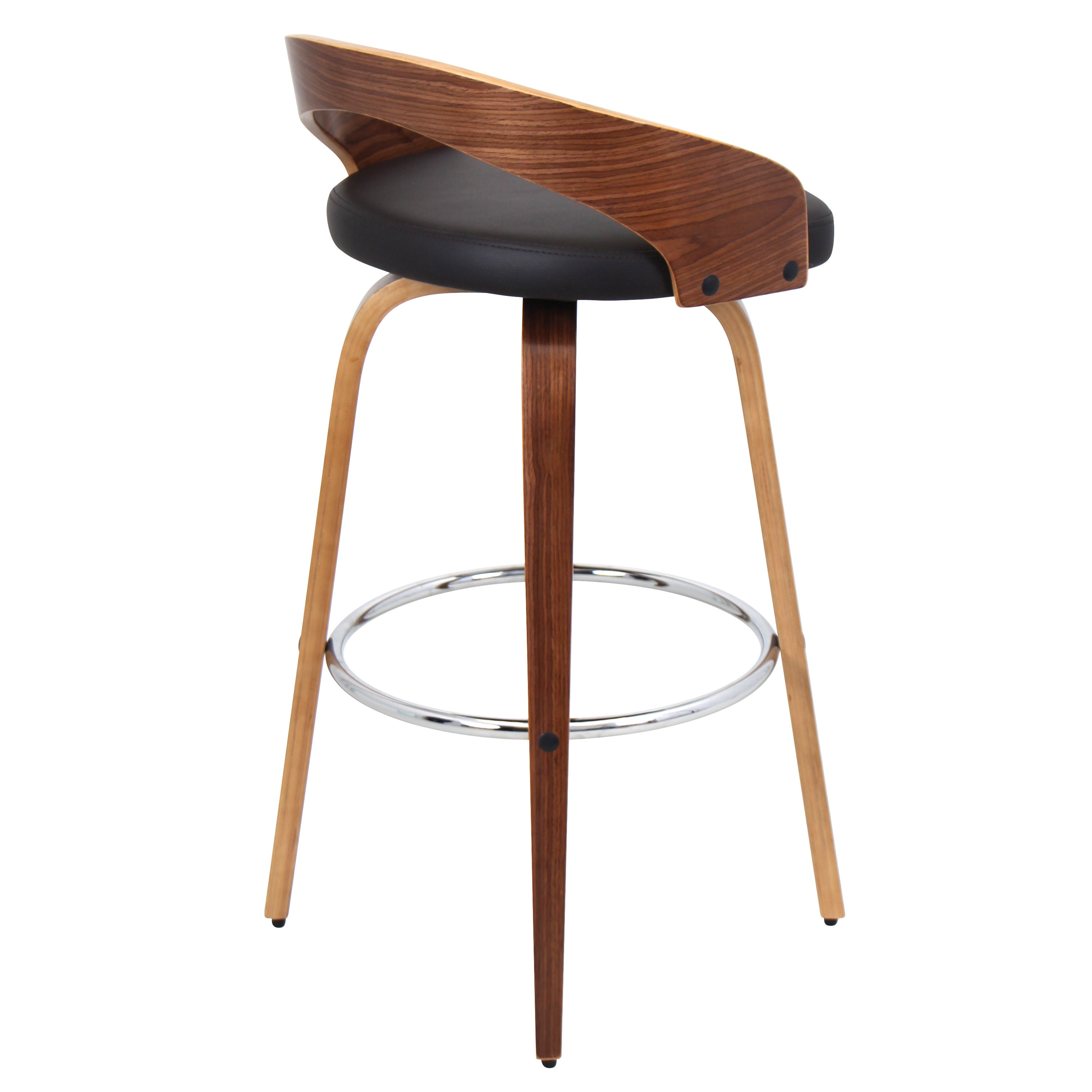 Grotto Mid Century Modern Wood Barstool Free Shipping Today 16554325