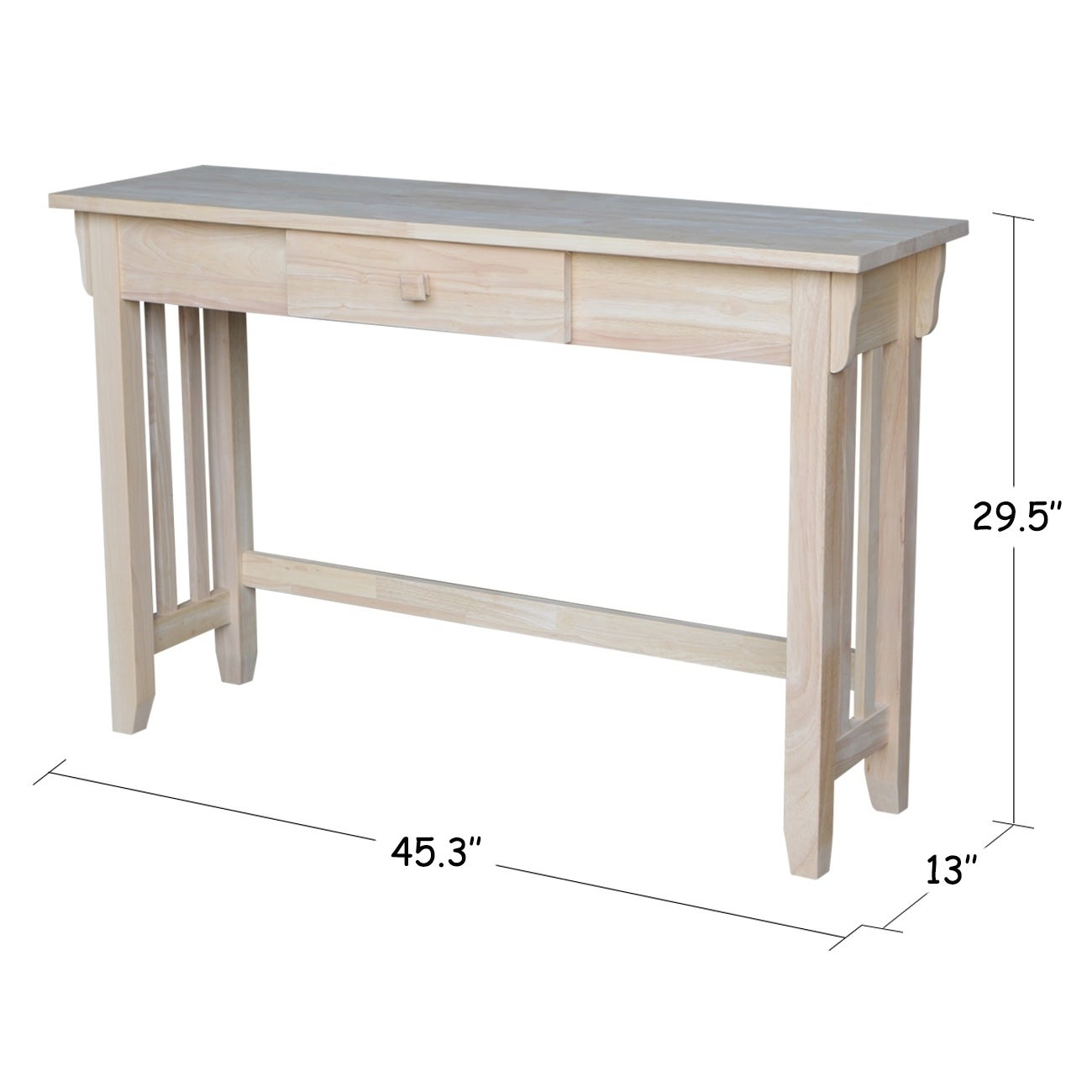 Awesome Unfinished Solid Parawood Mission Console Table   Free Shipping Today    Overstock   16555035