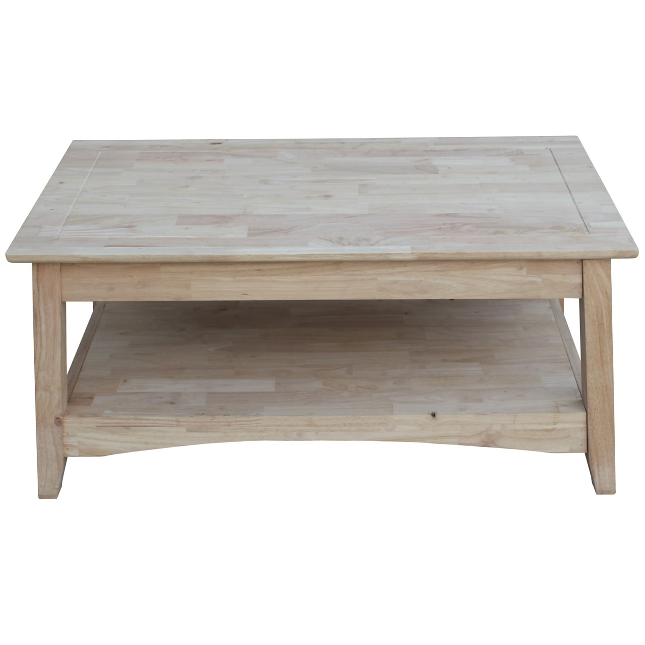 Shop Unfinished Solid Parawood Bombay Tall Lift Top Coffee Table   Free  Shipping Today   Overstock.com   9363042