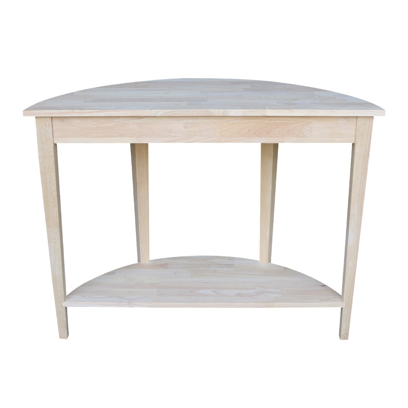 Shop Half Moon Unfinished Modern Console Table   Free Shipping Today    Overstock.com   9363049