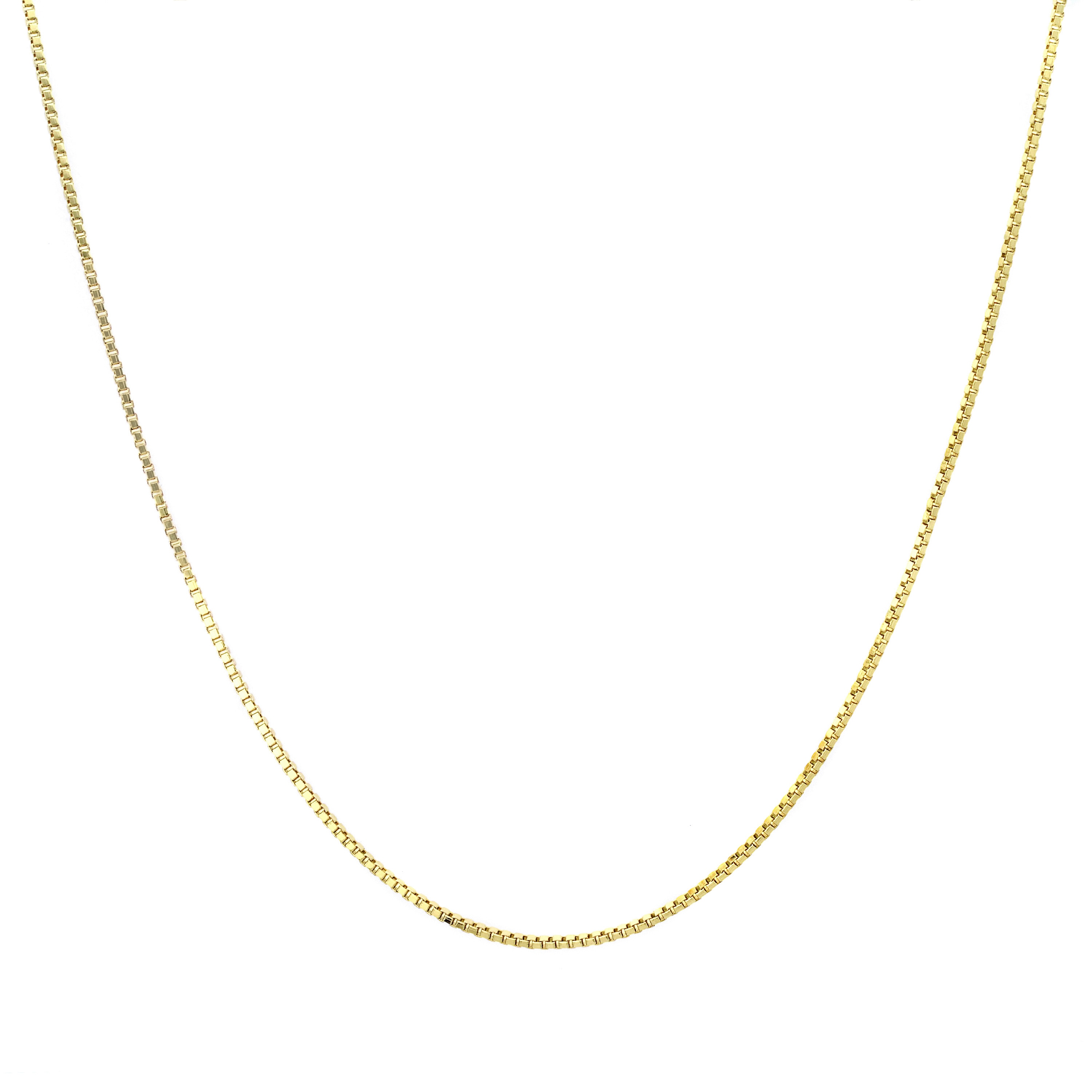 Shop Roberto Martinez 14k Gold Box Chain Necklace (14-inch - On Sale - Free  Shipping Today - Overstock.com - 9363322