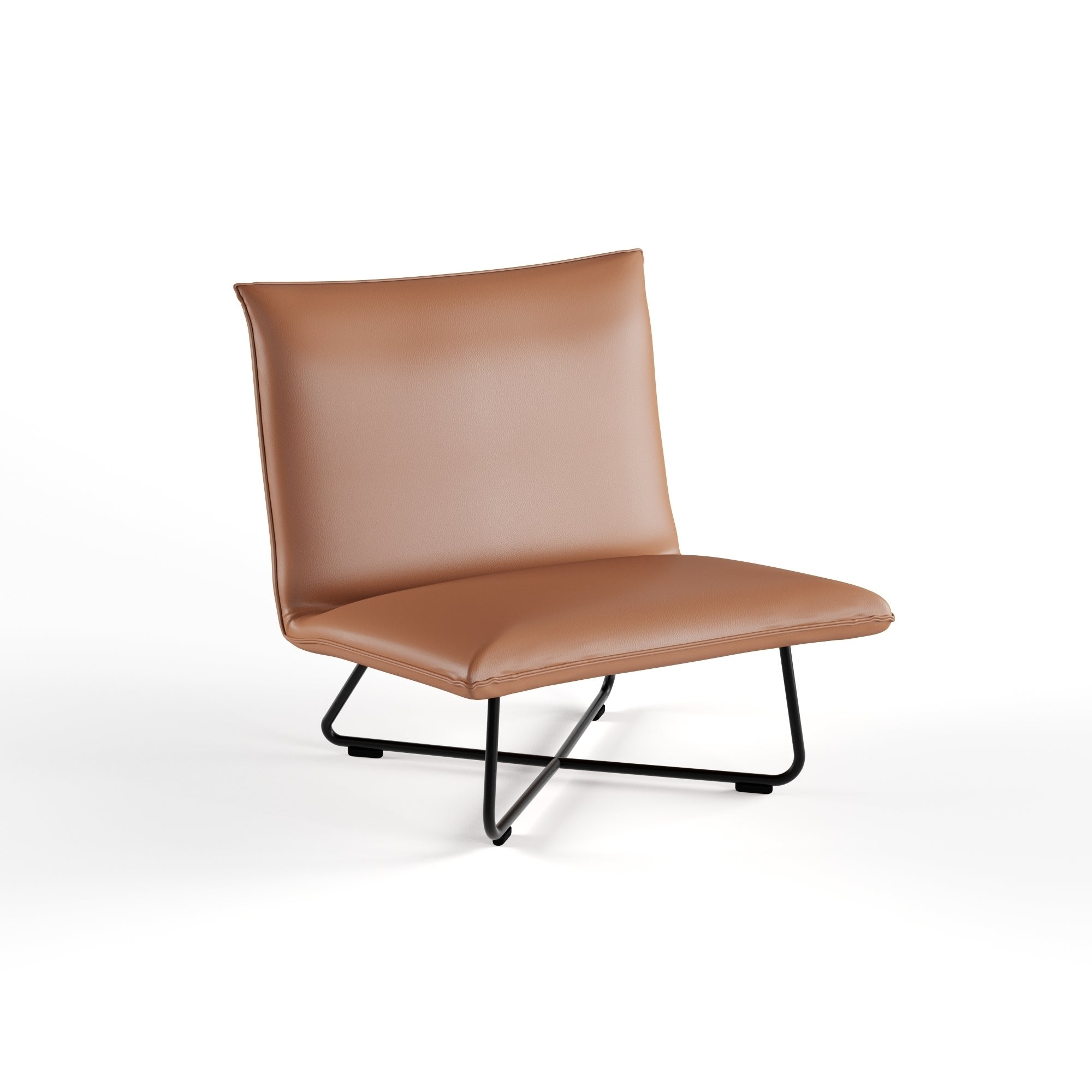 Ordinaire Shop Carson Carrington Saddle Brown Pillow Lounge Chair   Free Shipping  Today   Overstock.com   9363912