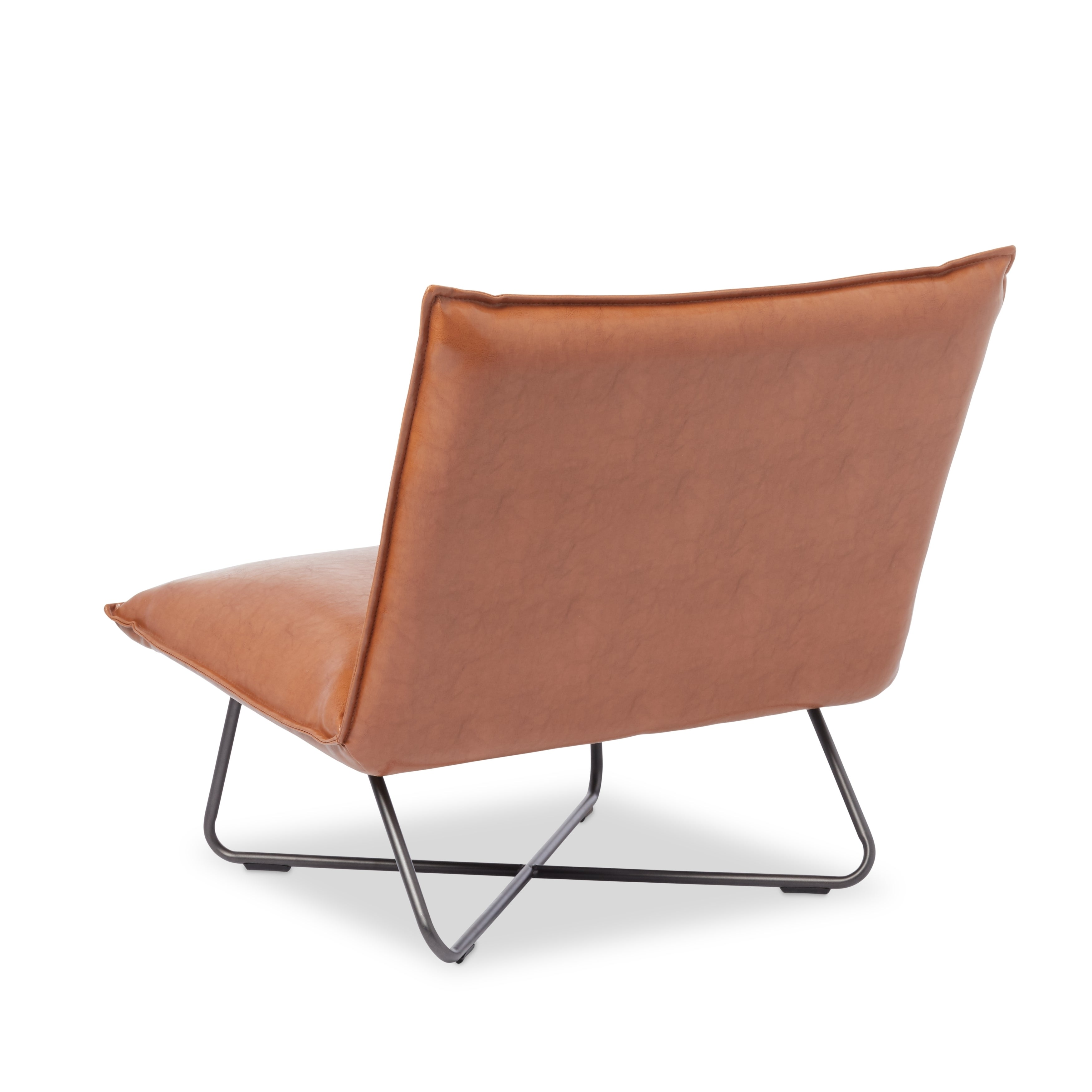 Saddle Brown Pillow Lounge Chair - Free Shipping Today - Overstock.com -  16555820