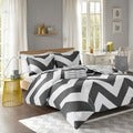 Mi Zone Pisces Black Reversible Duvet Cover Set