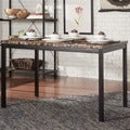 Darcy Faux Marble Black Metal Dining Table by iNSPIRE Q Bold
