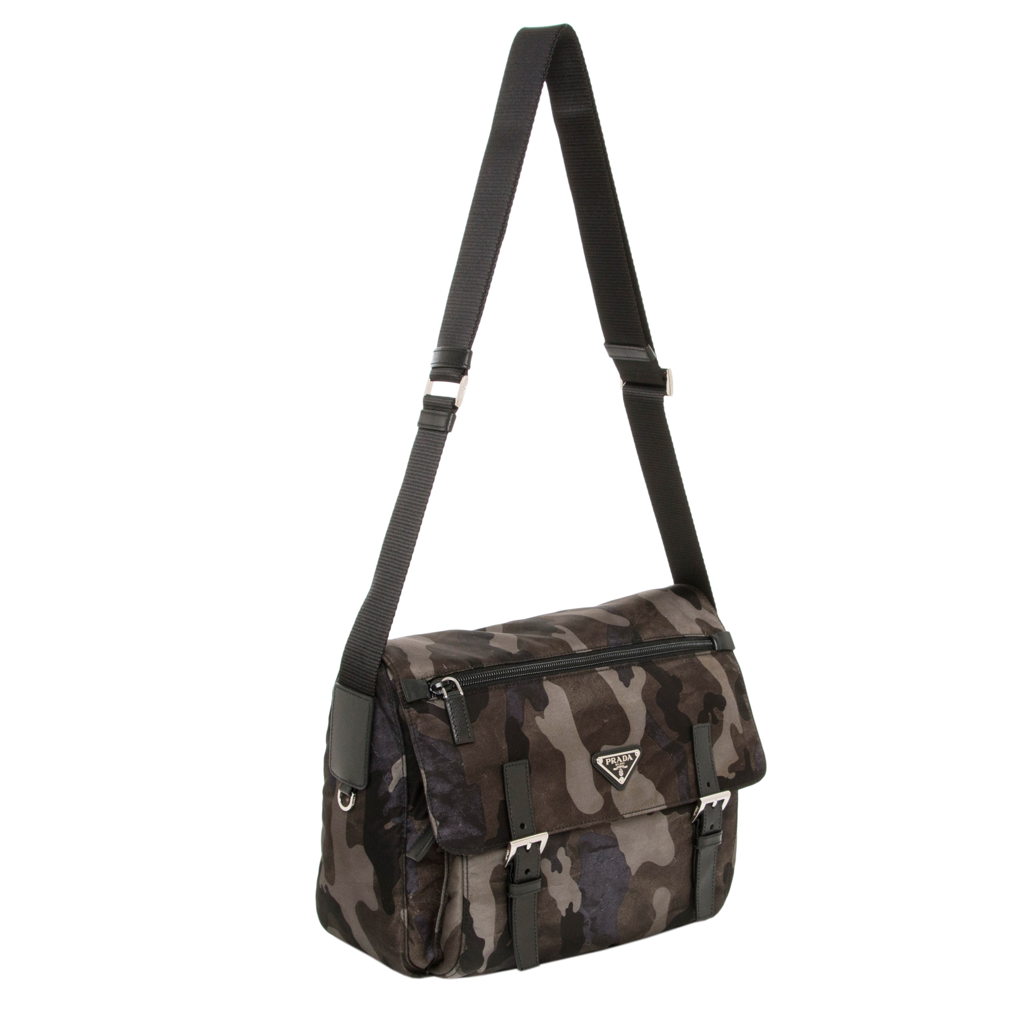 ced98df927be ... canada shop prada tessuto camouflage messenger bag free shipping today  overstock 9367350 d56b8 a538a ...