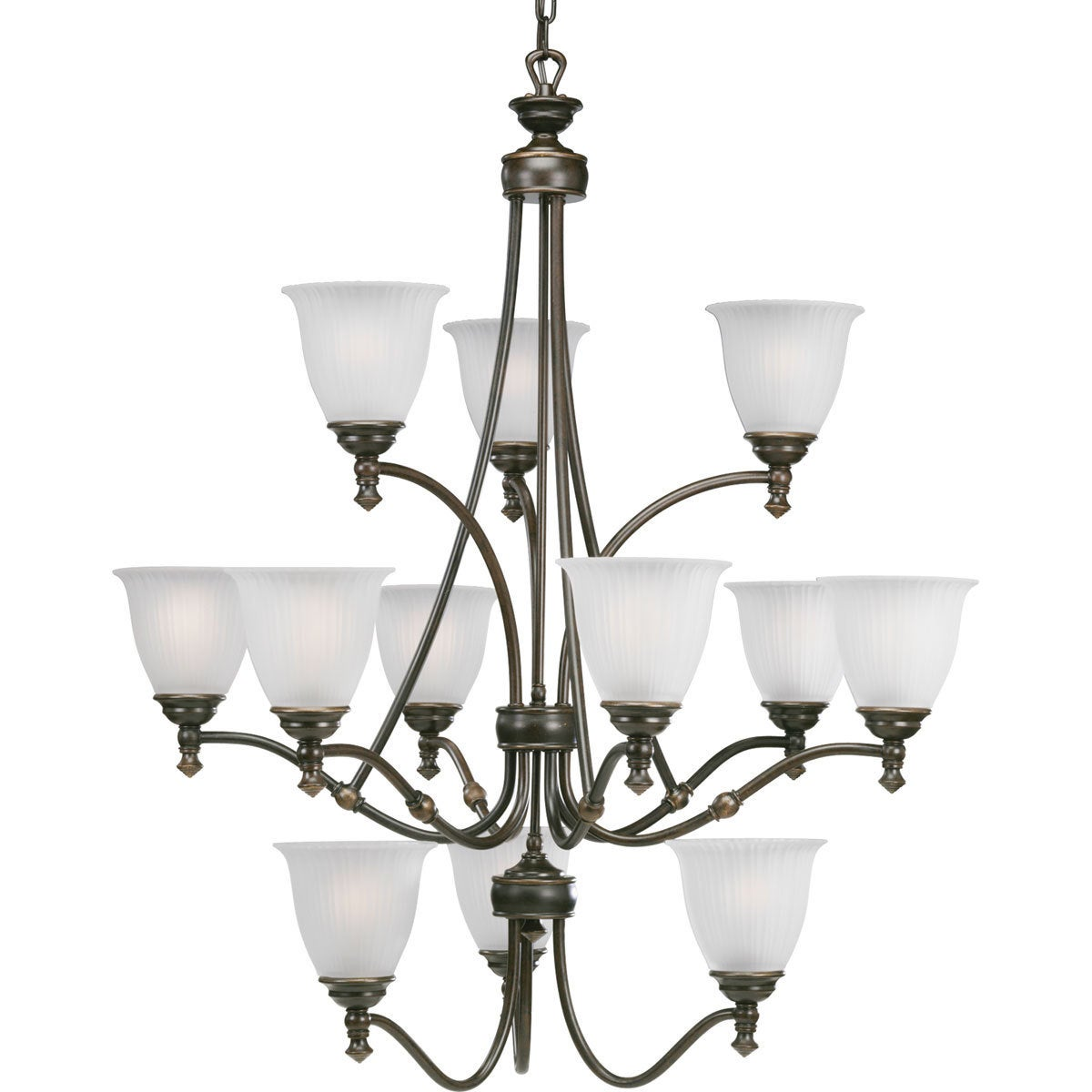Progress Lighting Renovations Collection 12 Light 3 Tier Forged Bronze Chandelier Fixture Free Shipping Today 9367535