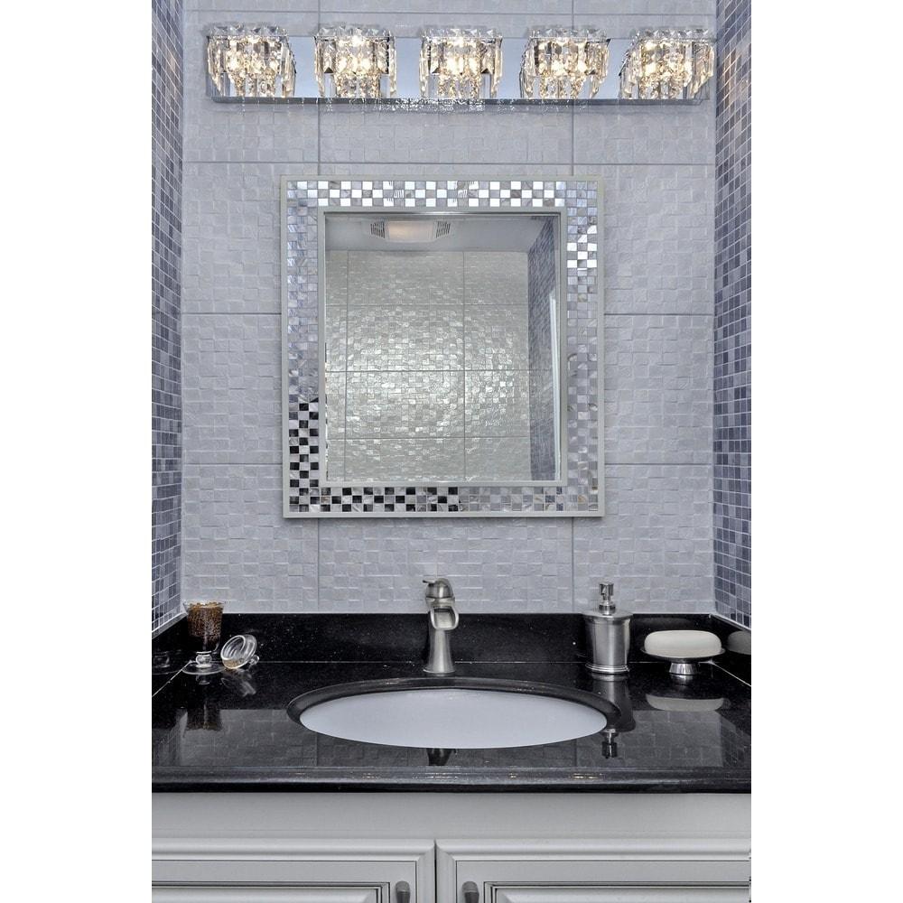 Bangle crystal cube and polished chrome 5 light bath vanity free bangle crystal cube and polished chrome 5 light bath vanity free shipping today overstock 16561488 mozeypictures Images