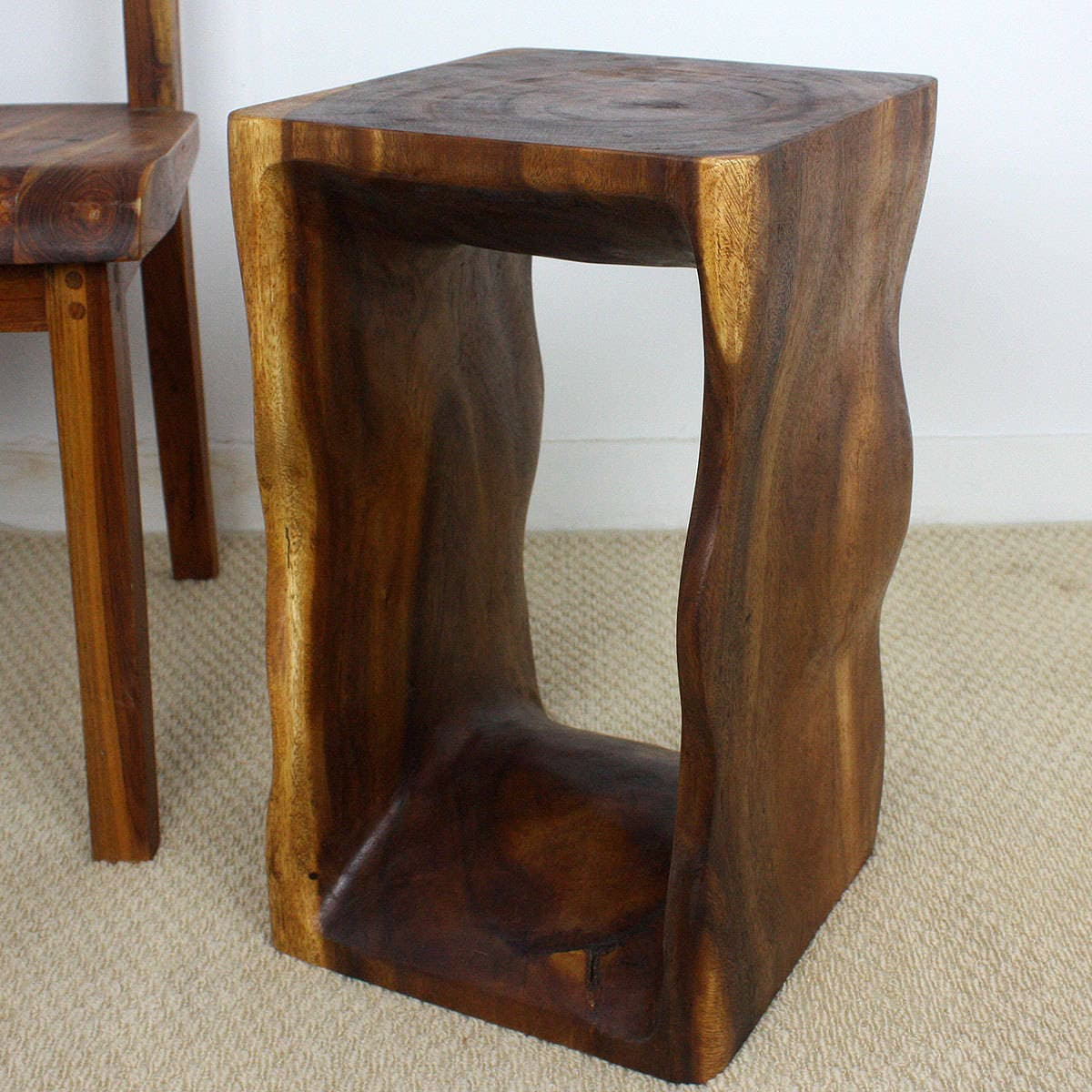 Exceptional Handmade 12 X 20 Natural Walnut Oiled U0027Monkey Podu0027 Wood End Table  (Thailand)   Free Shipping Today   Overstock.com   16562263