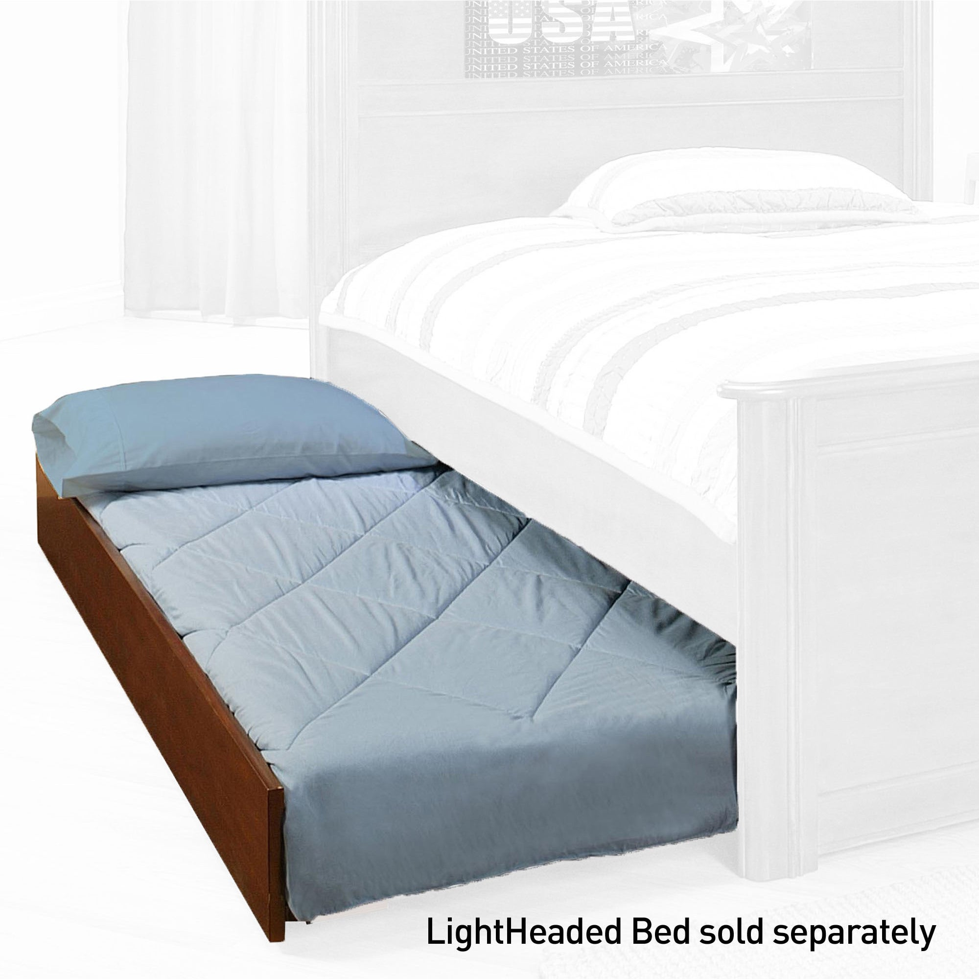LightHeaded Beds Twin Trundle for Twin/ Full Size LightHeaded Beds - Free  Shipping Today - Overstock.com - 16562282