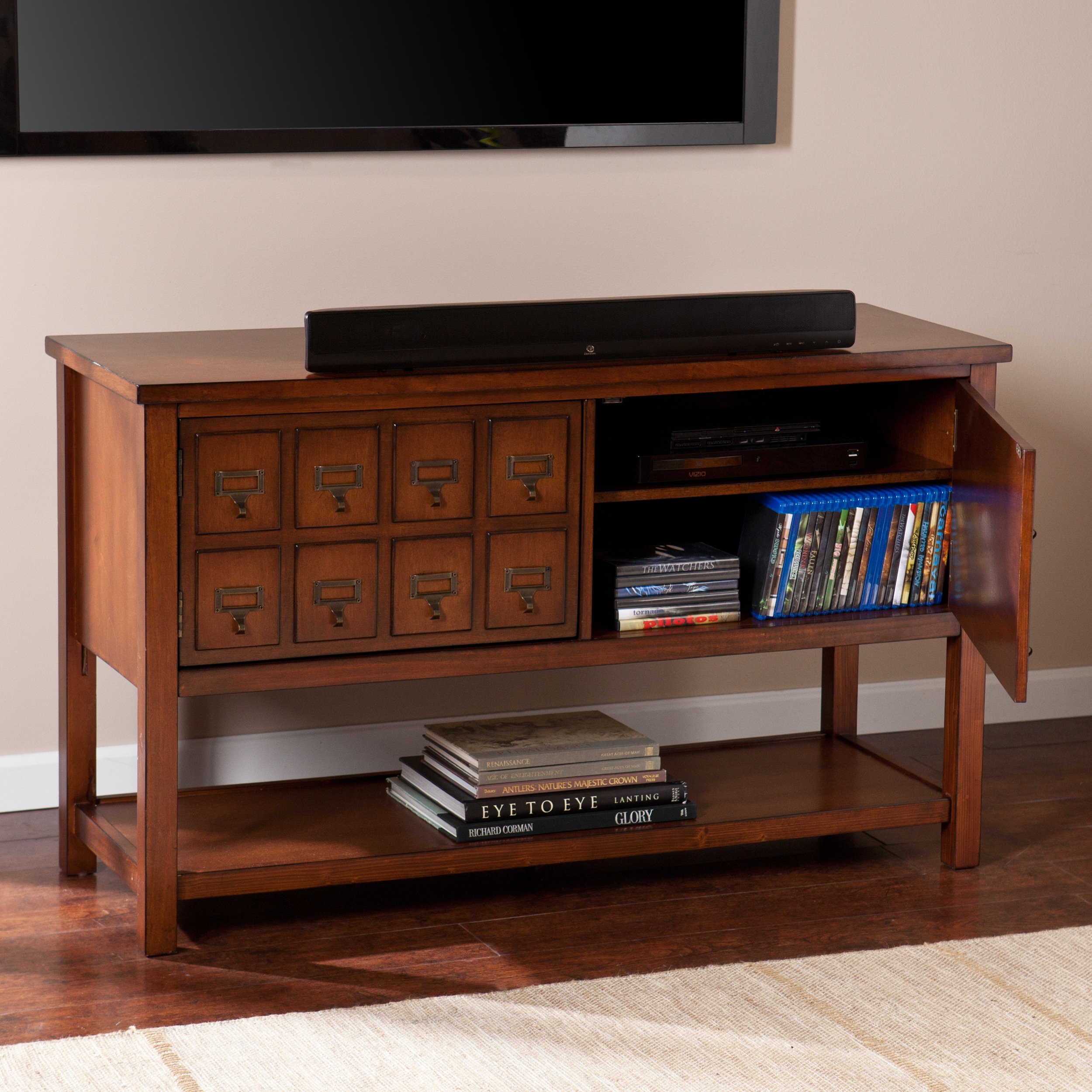 Genial Shop Harper Blvd Primrose Brown Mahogany Apothecary Console And TV Stand    On Sale   Free Shipping Today   Overstock.com   9371250
