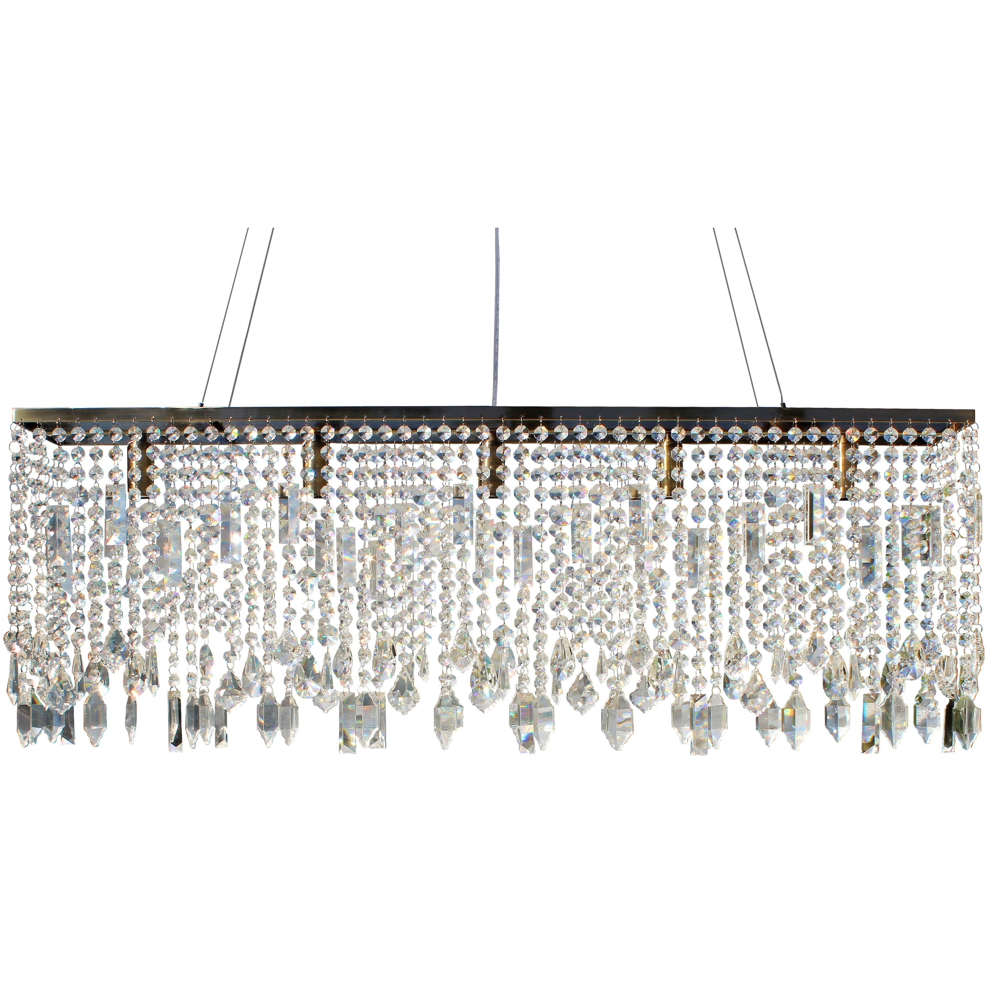 40 inch Antique Brass Suspension Linear Chandelier Free Shipping