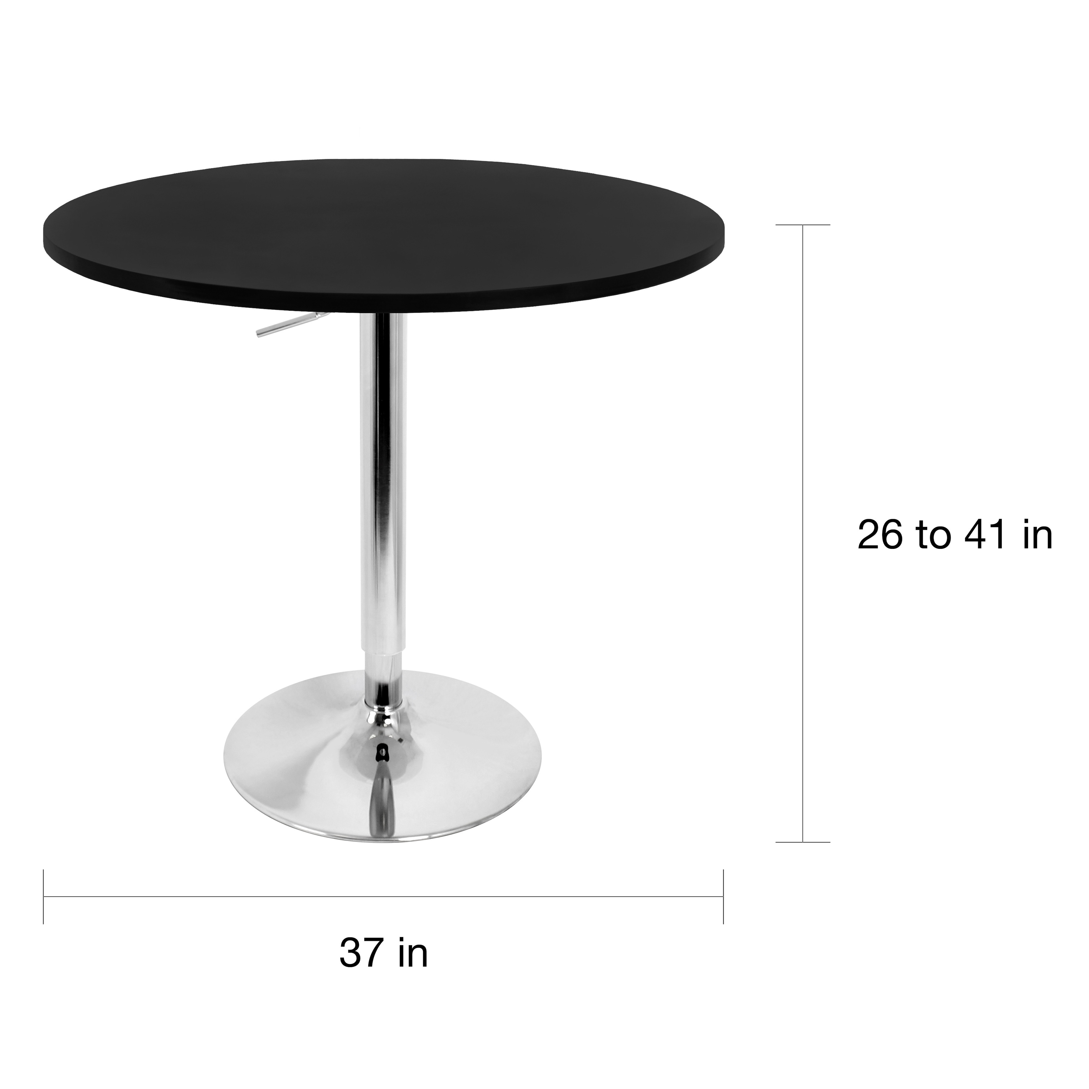 Shop Porch Den Bixby 27 Inch Adjustable Bar Table On Sale Free