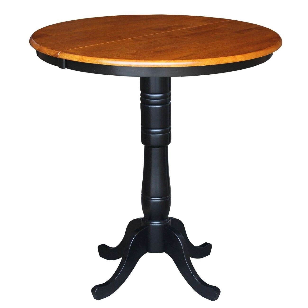 Havenside Home Knotts 36 Inch Round Dining Room Table With Two Extensions Free Shipping Today 21167069