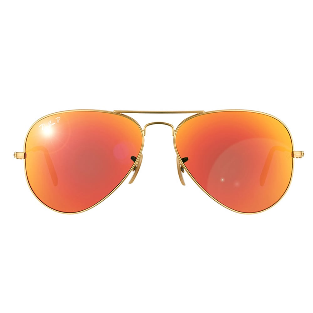 0d69688af61 Shop Ray-Ban Aviator RB3025 Unisex Gold Frame Orange Flash Polarized Lens  Sunglasses - Free Shipping Today - Overstock - 9375462