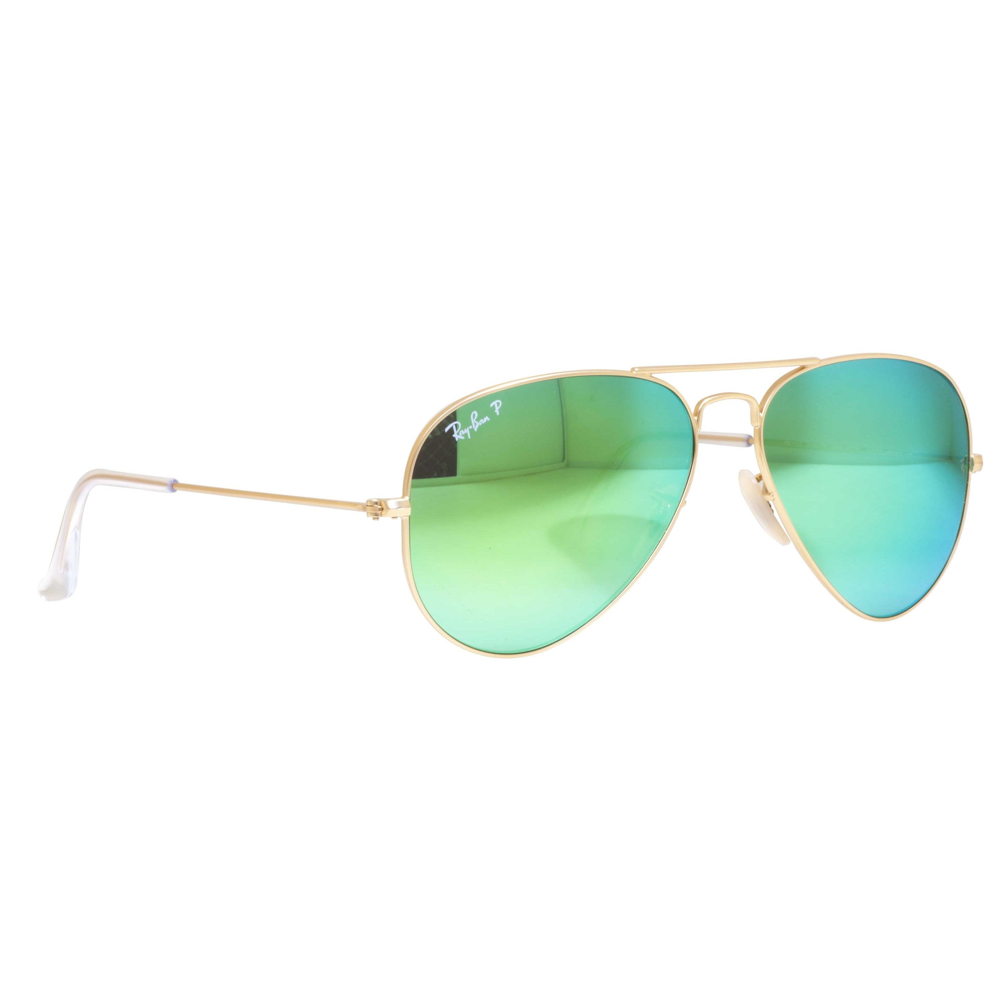 74f7ca616d4b8 Shop Ray-Ban Aviator RB3025 Unisex Gold Frame Green Flash Polarized Lens  Sunglasses - Free Shipping Today - Overstock - 9375463