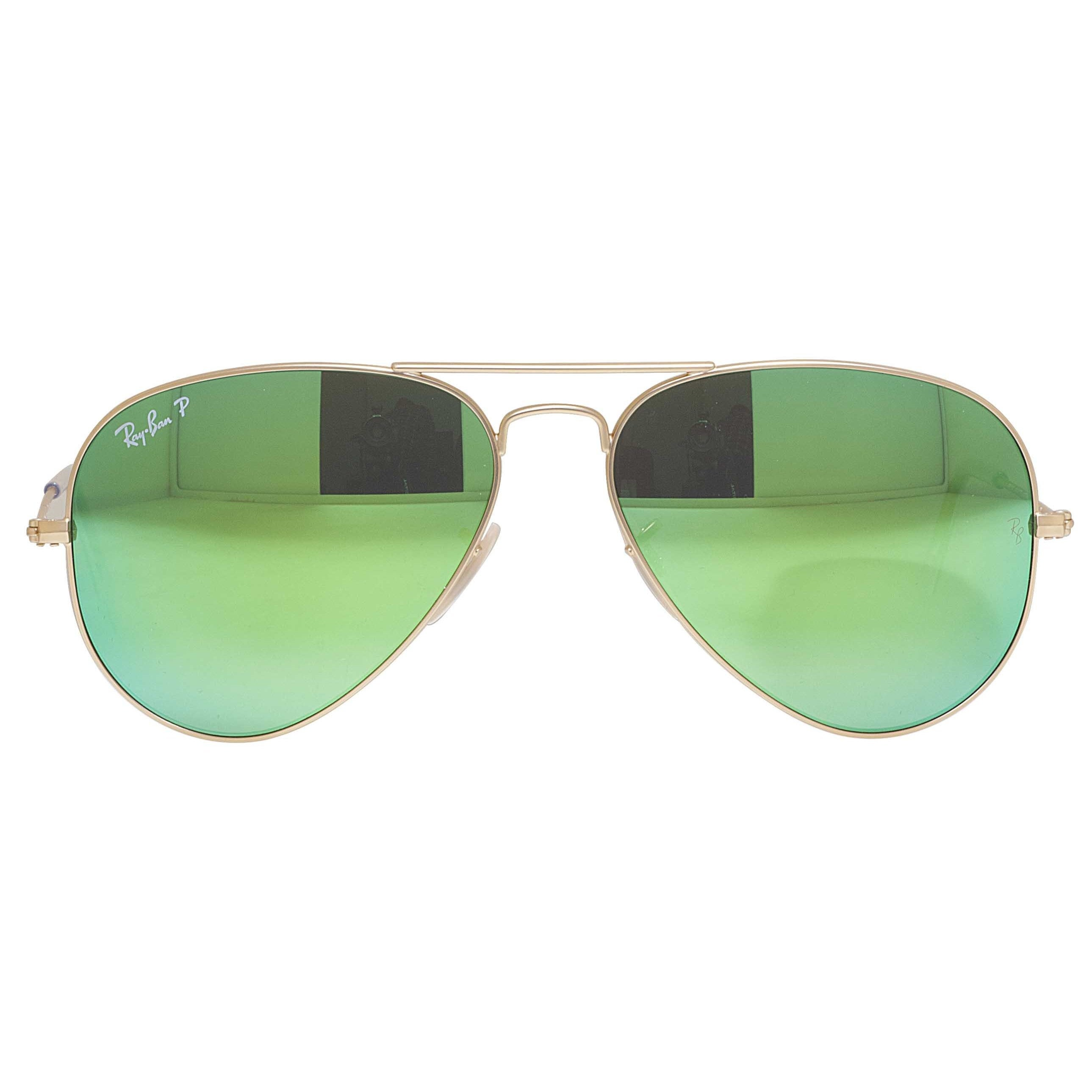 04ba0ca2ee Ray-Ban Aviator RB3025 Unisex Gold Frame Green Flash Polarized Lens  Sunglasses