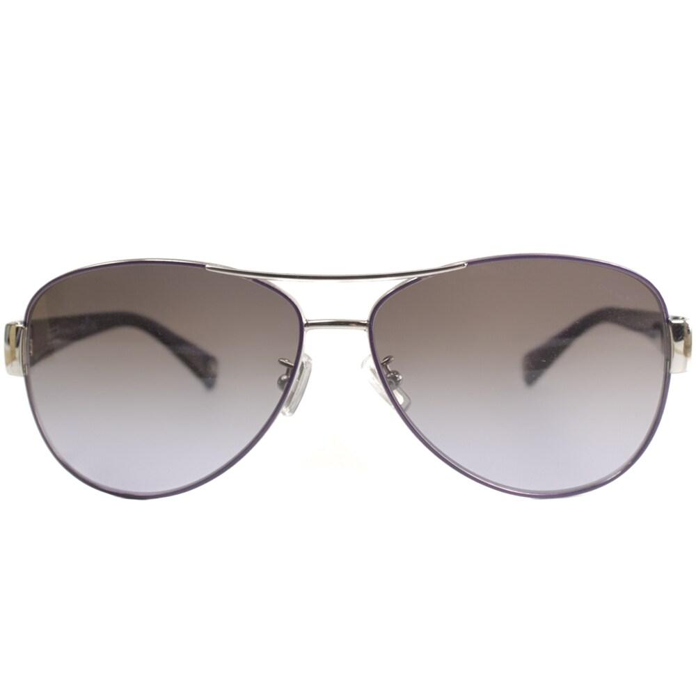 3c7b44bf9e Shop Coach Women s  Kristina HC 7003 L012 912568  Aviator Sunglasses - Free  Shipping Today - Overstock - 9375464