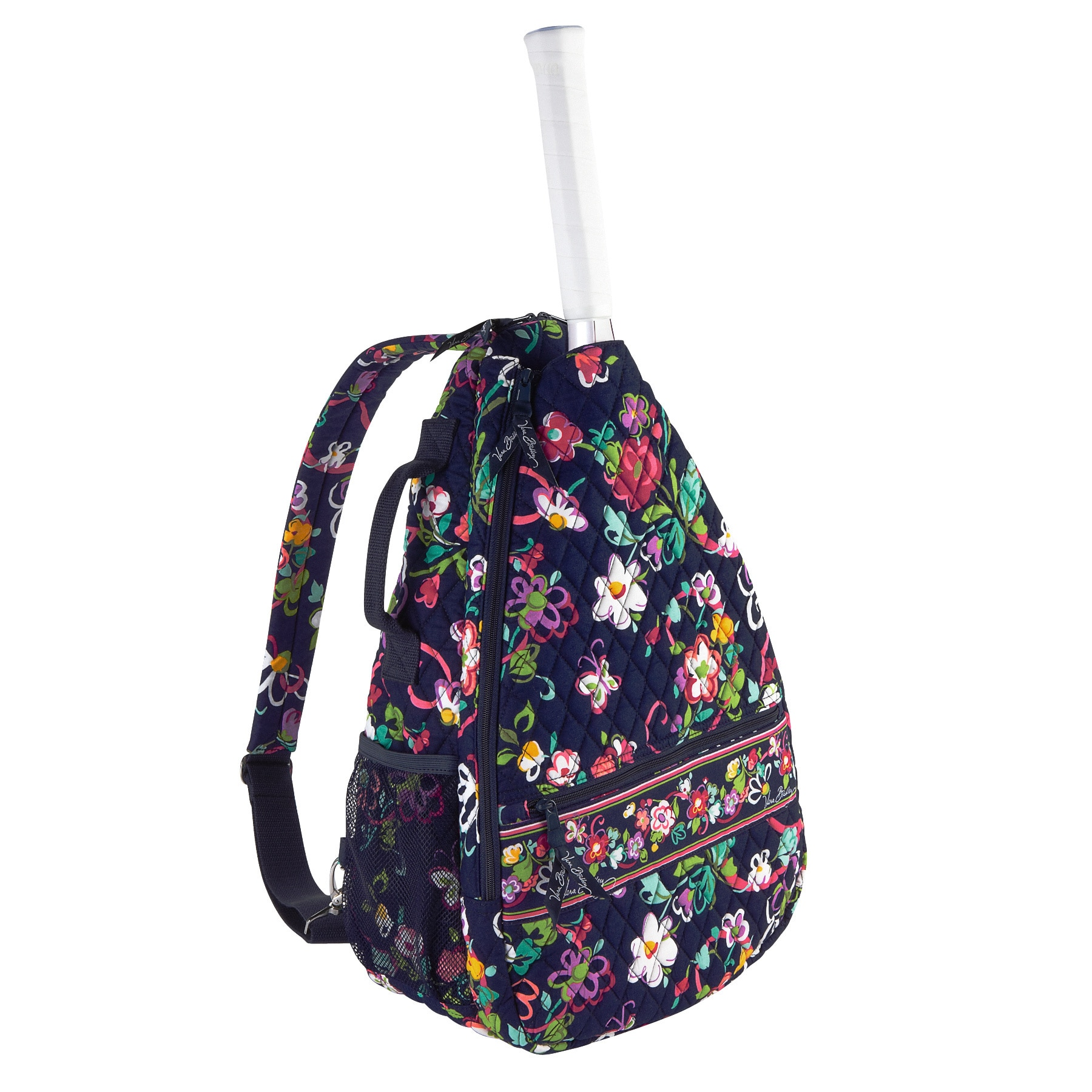 Shop Vera Bradley Ribbons Sling Tennis Backpack Shoulder Bag - Free  Shipping On Orders Over  45 - Overstock - 9376085 d574804ad4a23
