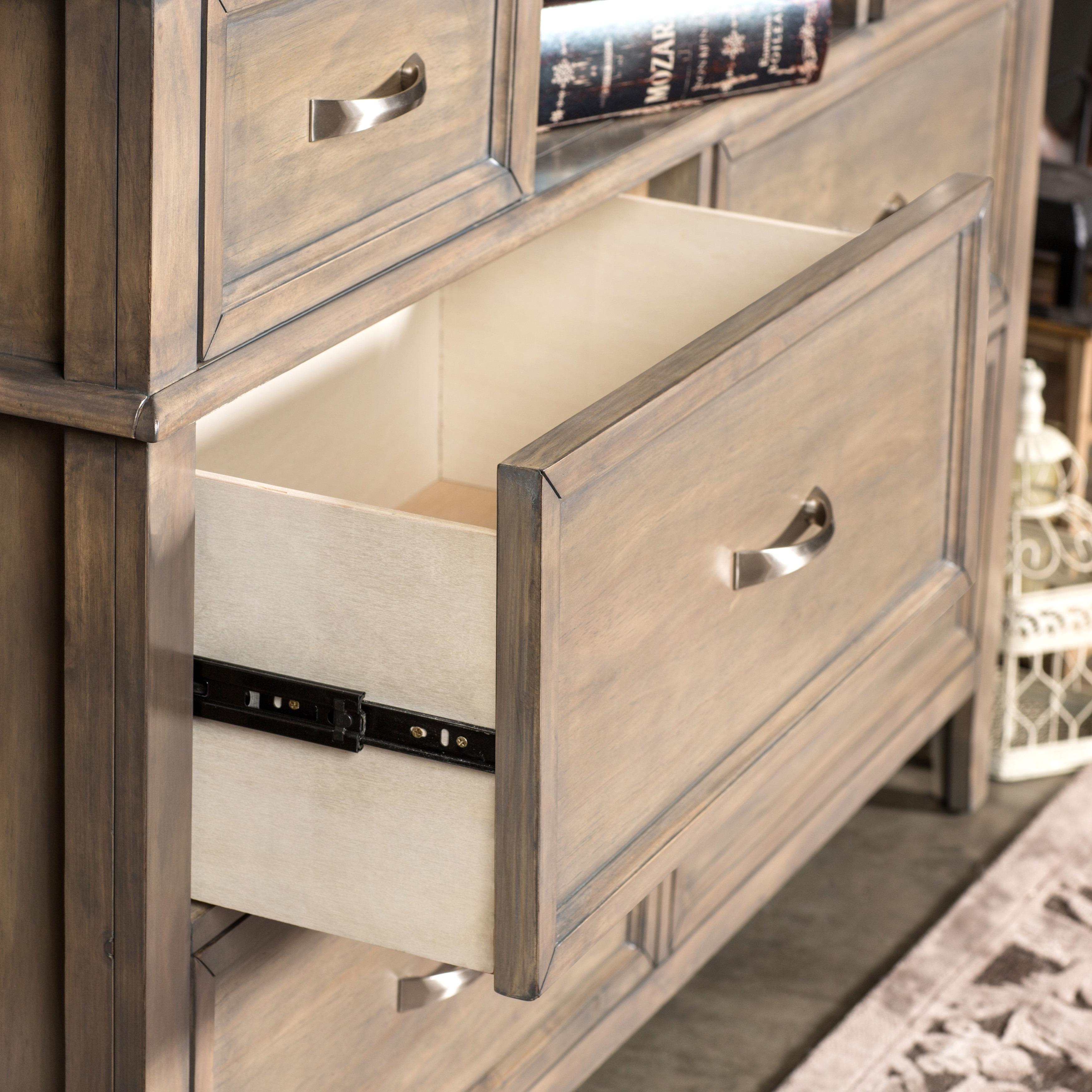seven and vaughan vintage number cottage products dresser bassett mirror set item too drawer