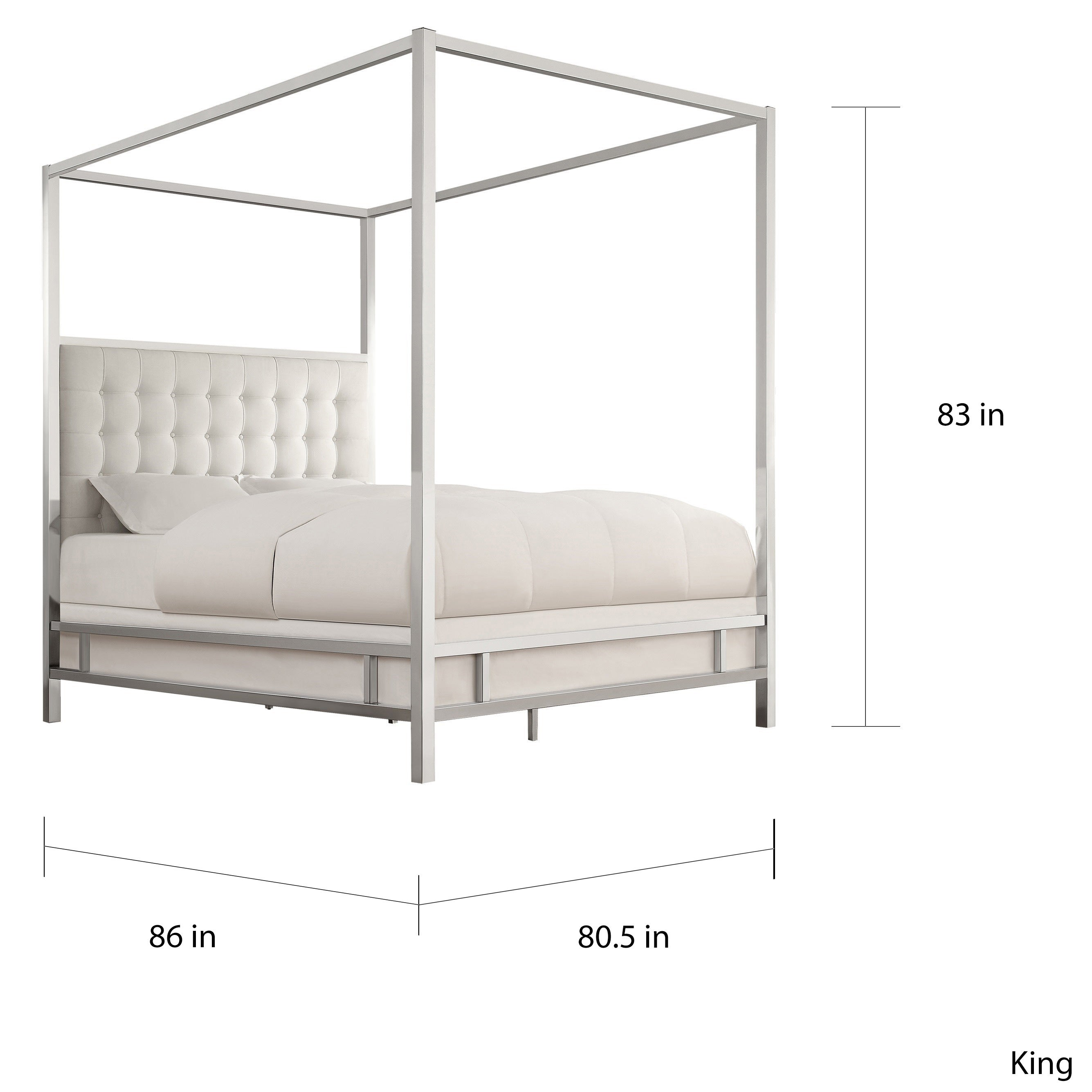 938e90a7c58e Shop Solivita Queen-size Chrome Metal Poster Bed by iNSPIRE Q Bold - On Sale  - Free Shipping Today - Overstock - 9378476