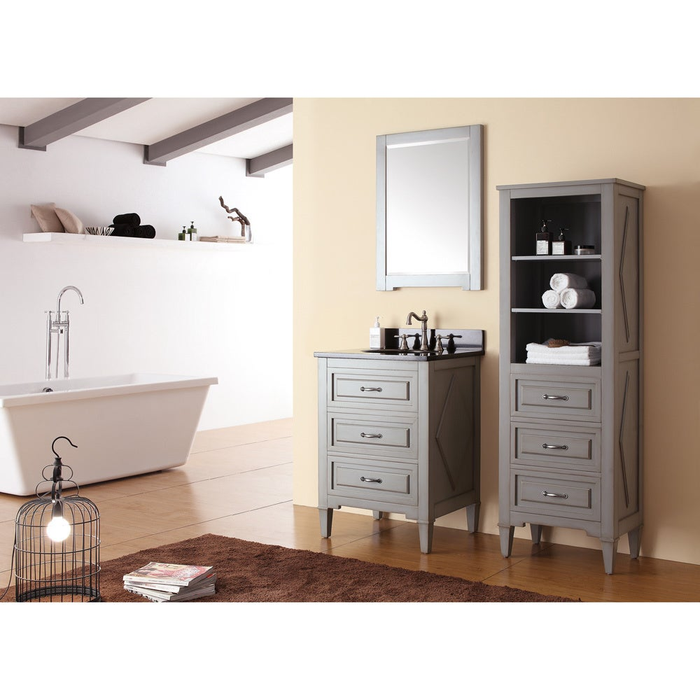 Shop Avanity Kelly Grey/ Blue 24 Inch Vanity Combo   Free Shipping Today    Overstock.com   9378796
